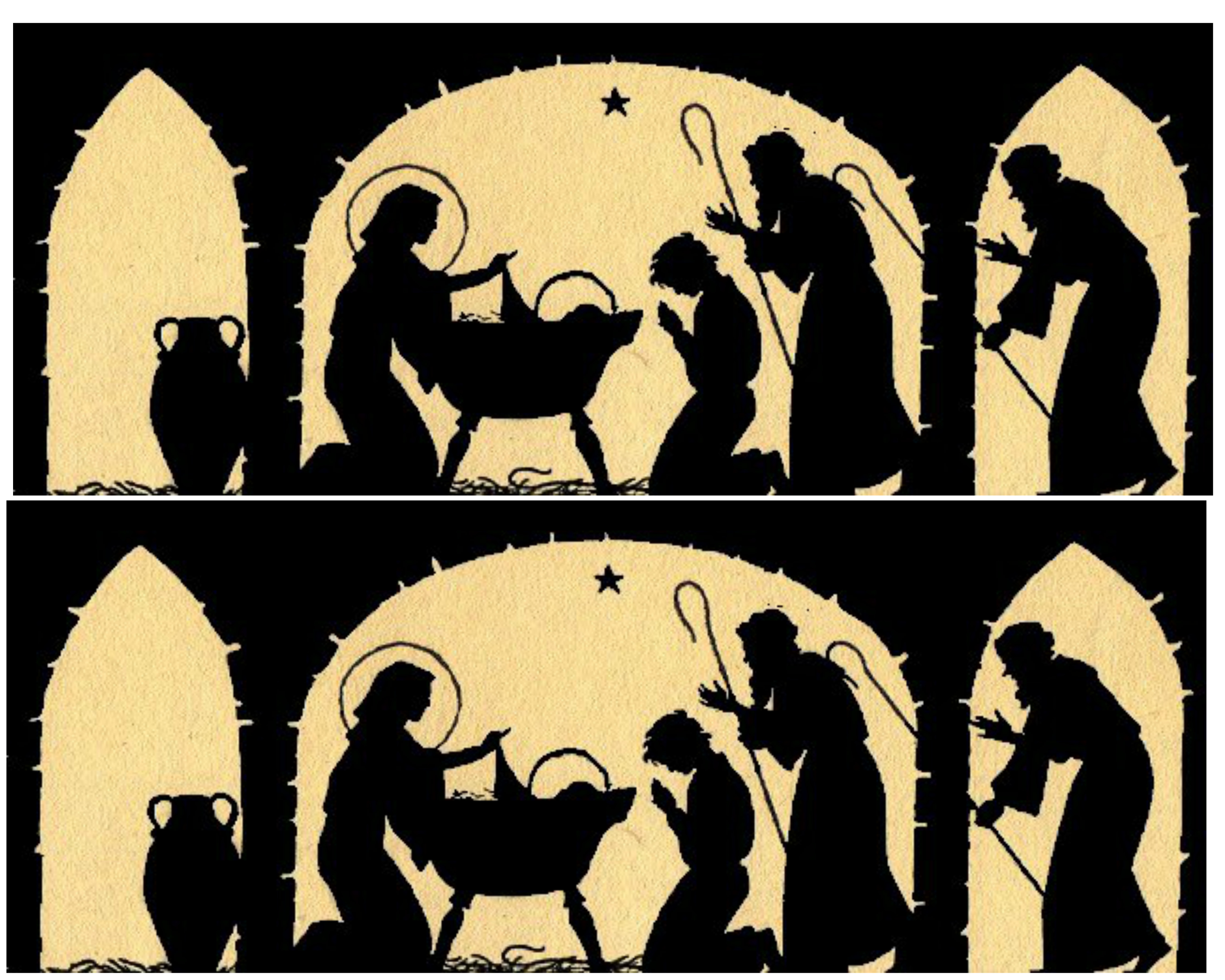 Nativity Silhouette Candle Holder - 12 Days of Christmas {day 3 ...