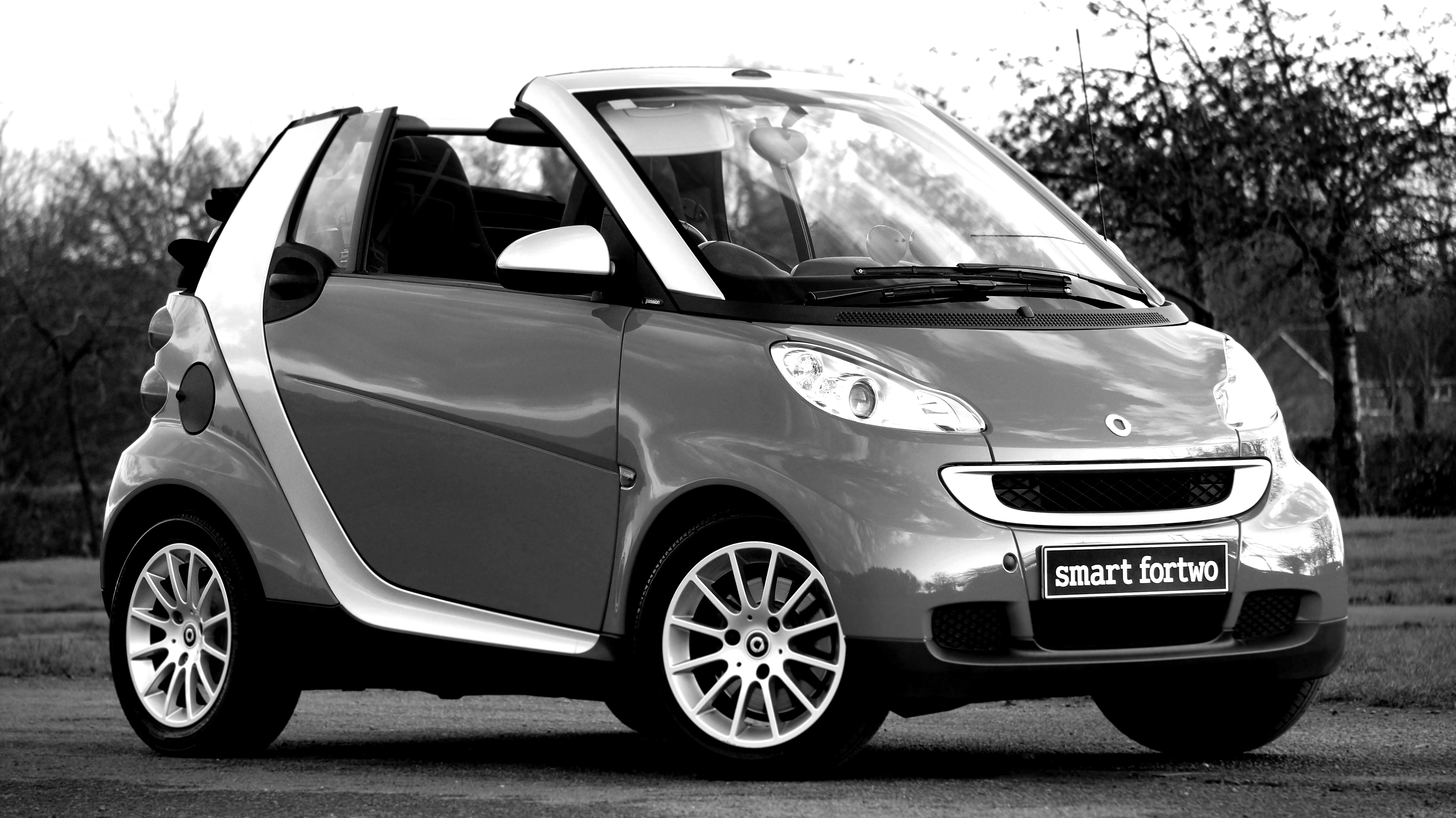 Silver and Gray Smart Forto Coup, Auto, Luxury, Vehicle, Transportation system, HQ Photo