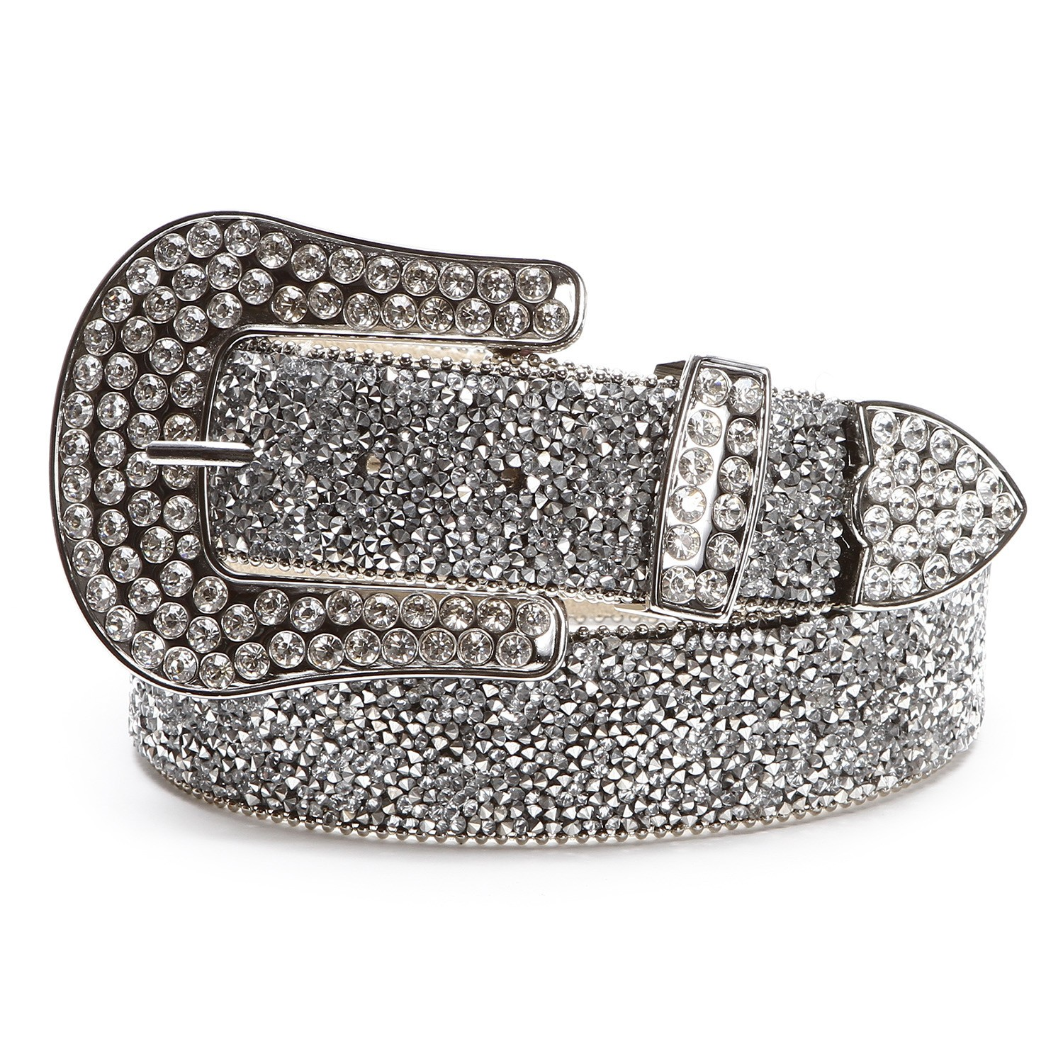 Ariat Womens Crystal Silver Belts