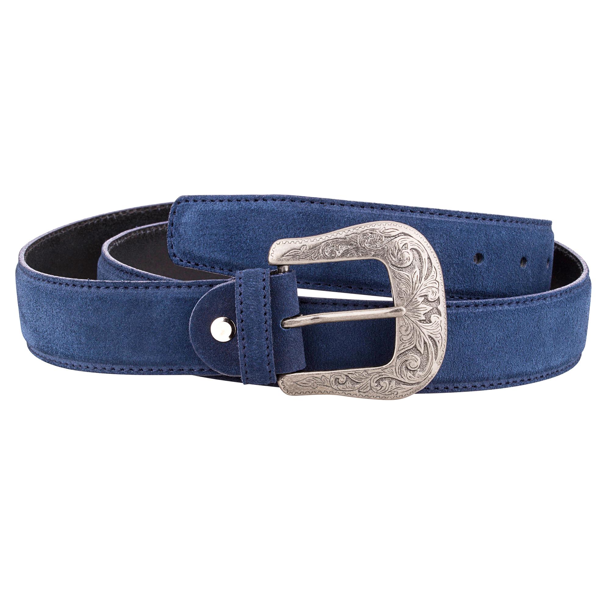 Mens Western Belts Antique silver belt buckles Cowboy Cowgirl Blue ...