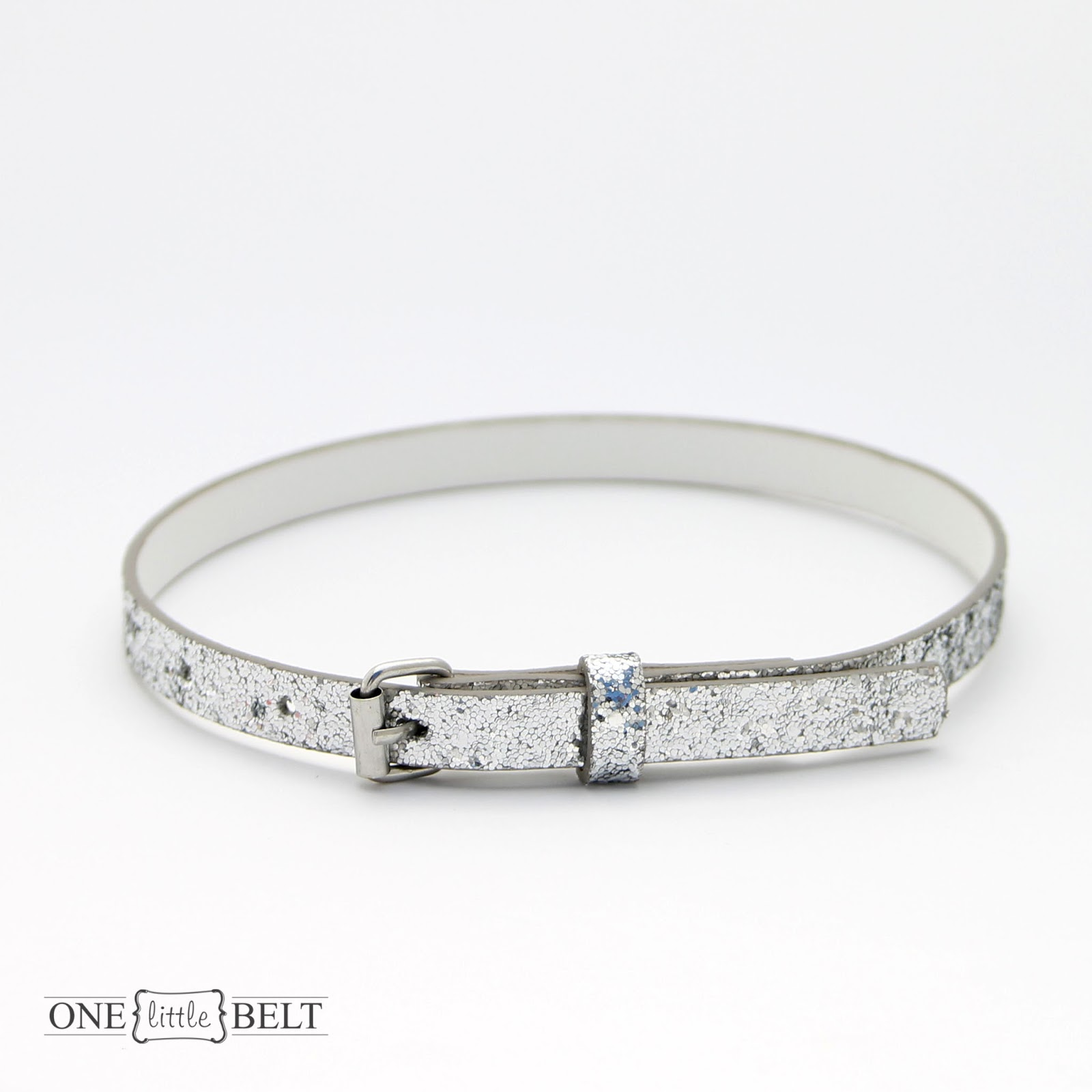 Shop Update: Girl's Basic Silver and Black Glitter Belts - ONE ...
