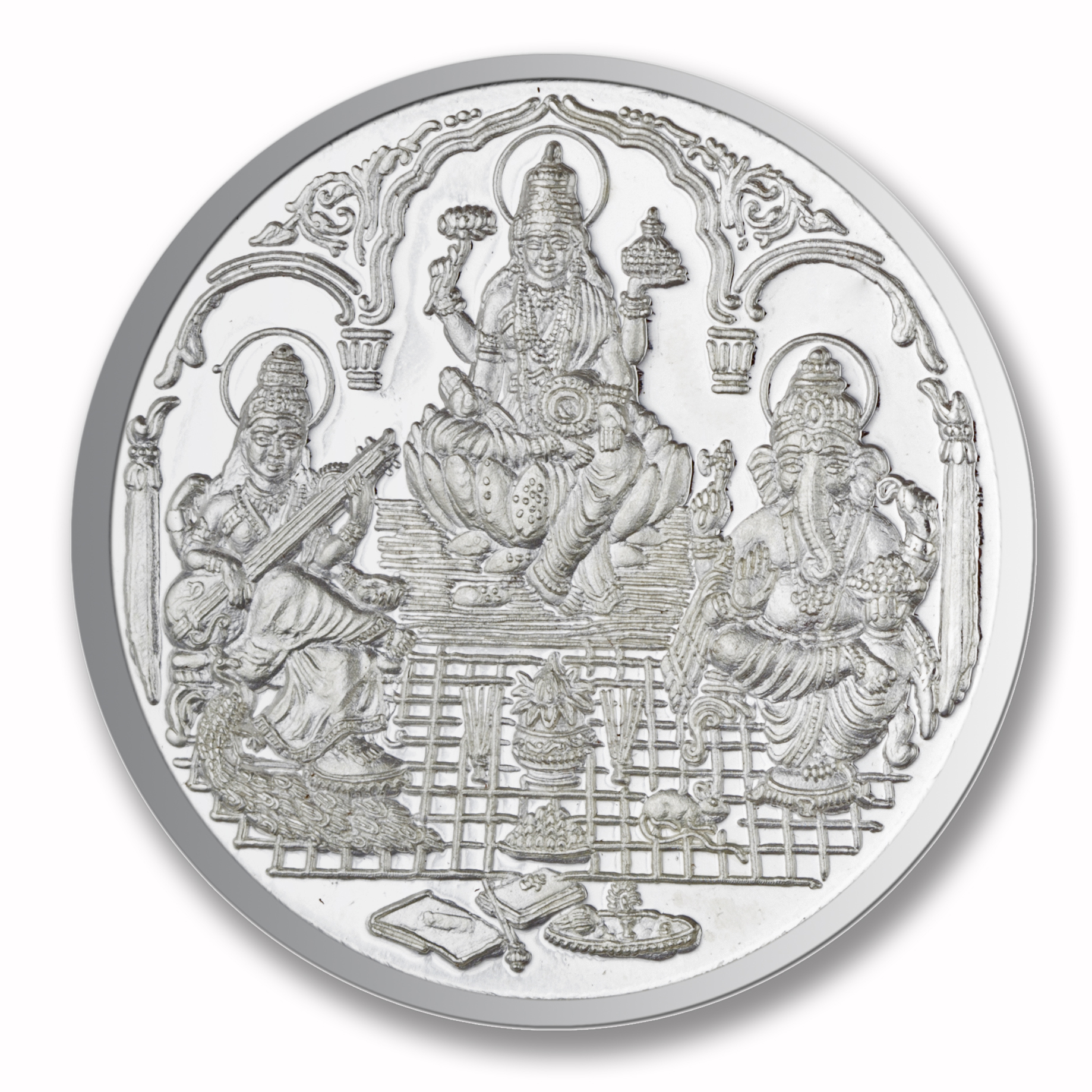 Silver, 25 gms Trimurti Shree Silver Coin