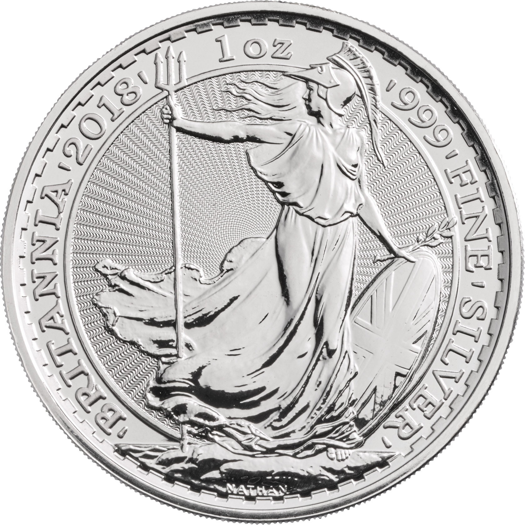2018 Britannia One Ounce Silver Coin - 21,84 €