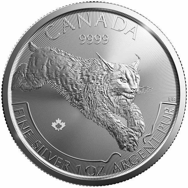 Buy 2017 1oz. Silver Lynx Coin by RCM - Predator Series Coin