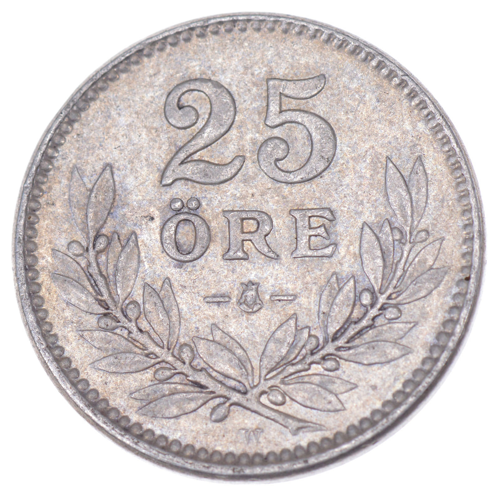 SILVER - 1917 Sweden 25 Ore - World Silver Coin | Property Room