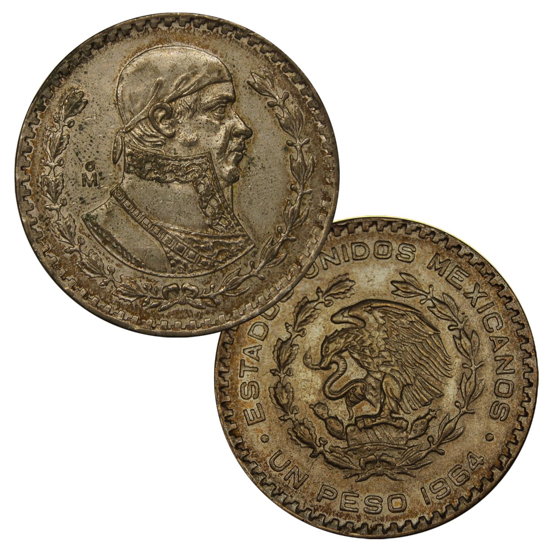 Mexicos Last Silver Coin - 1957 -1967 Un Peso - 10% Silver