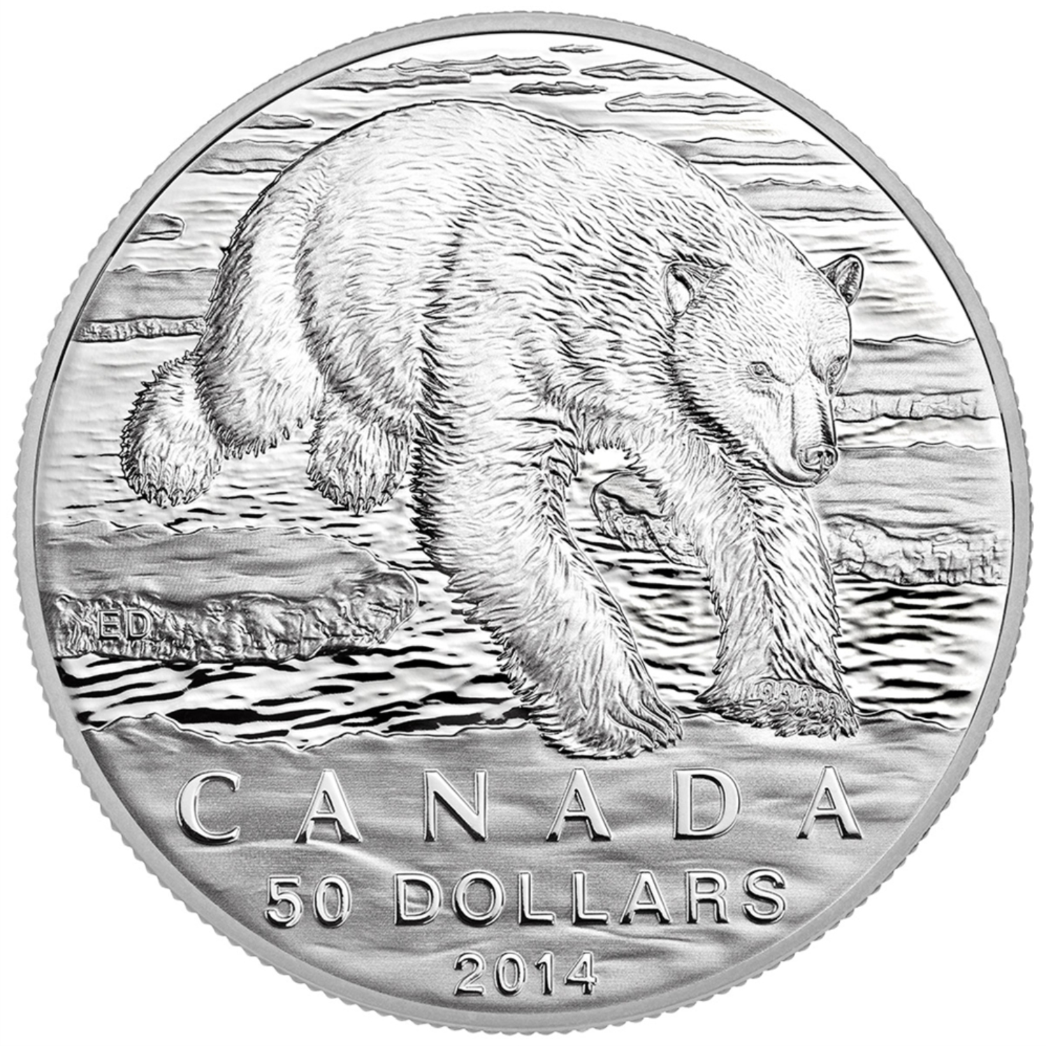 $50 Fine Silver Coin - Iconic Polar Bear (2014) - The Coin Master ...