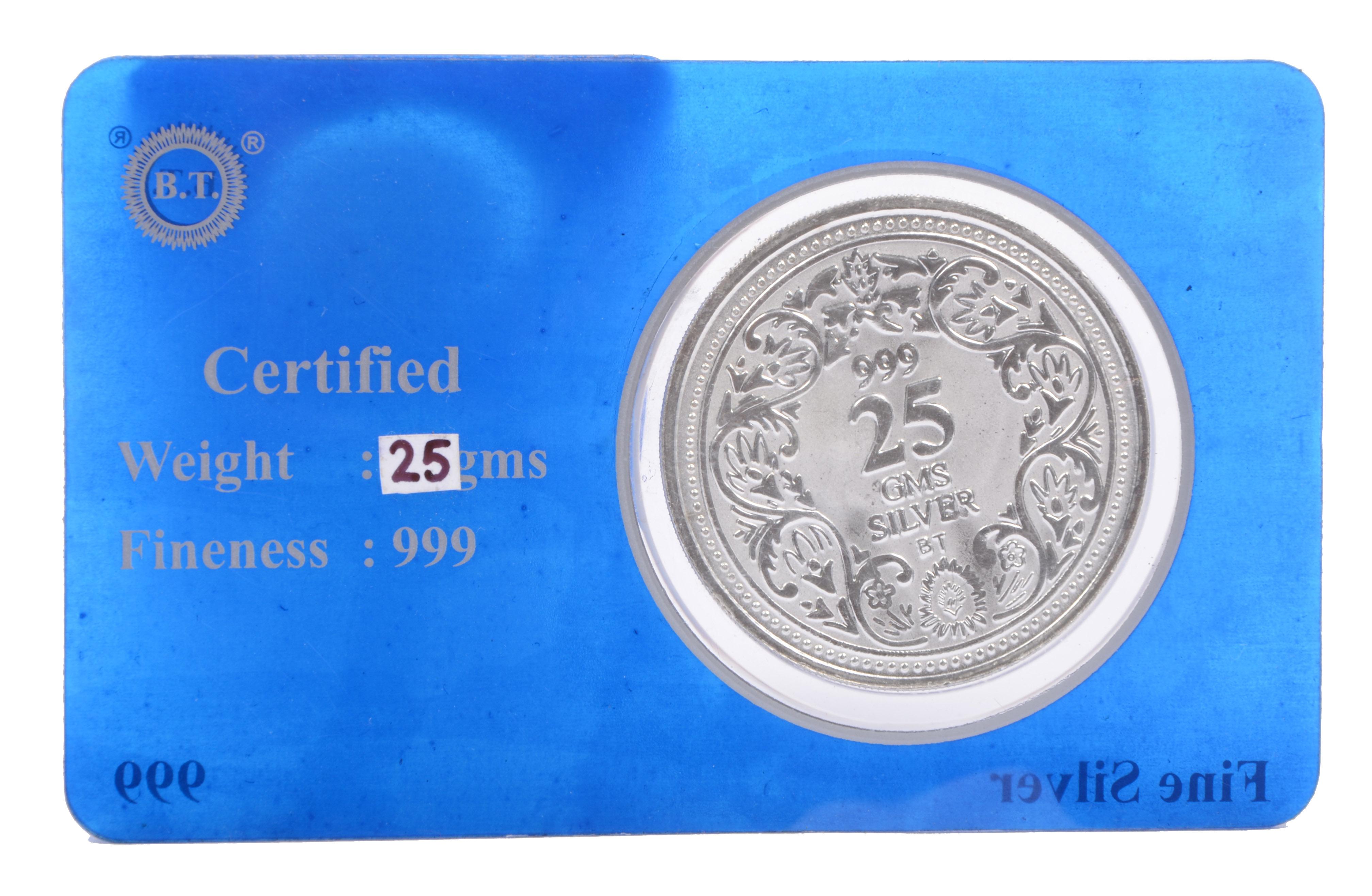 25 GM. SILVER COIN - Aashirwad Jewellers