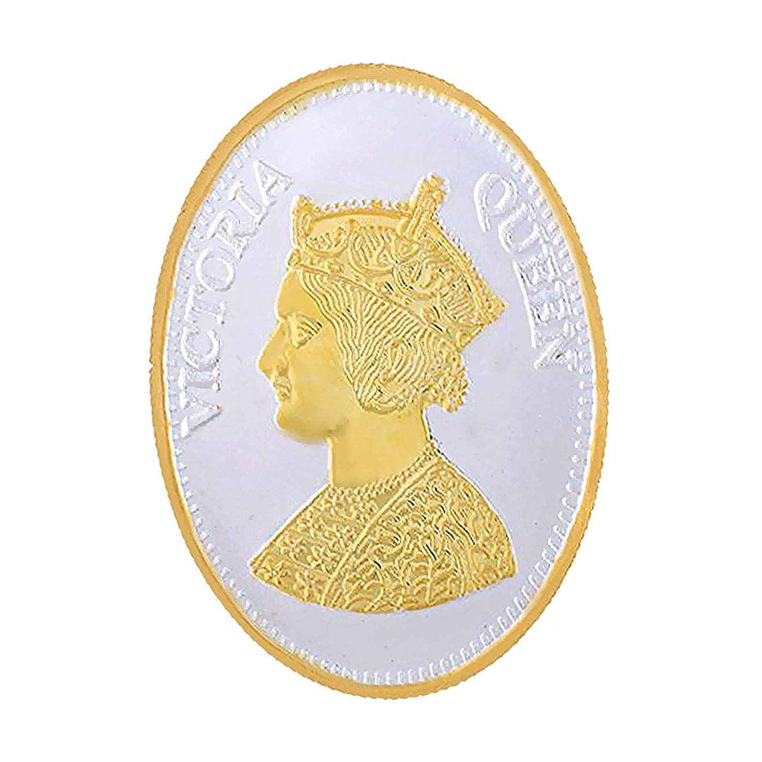 Buy LGW Queen Victoria Oval Shape Silver Coin 10 Gram 999 purity ...