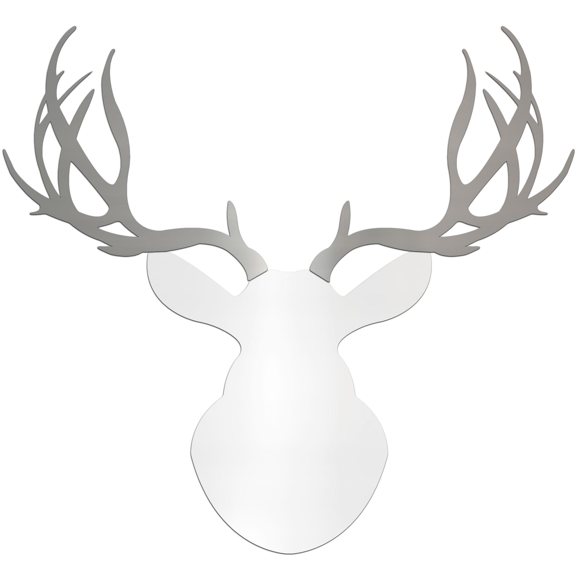 Metal Art Studio - REGAL BUCK | 36x36 in. White & Silver Deer Cut ...
