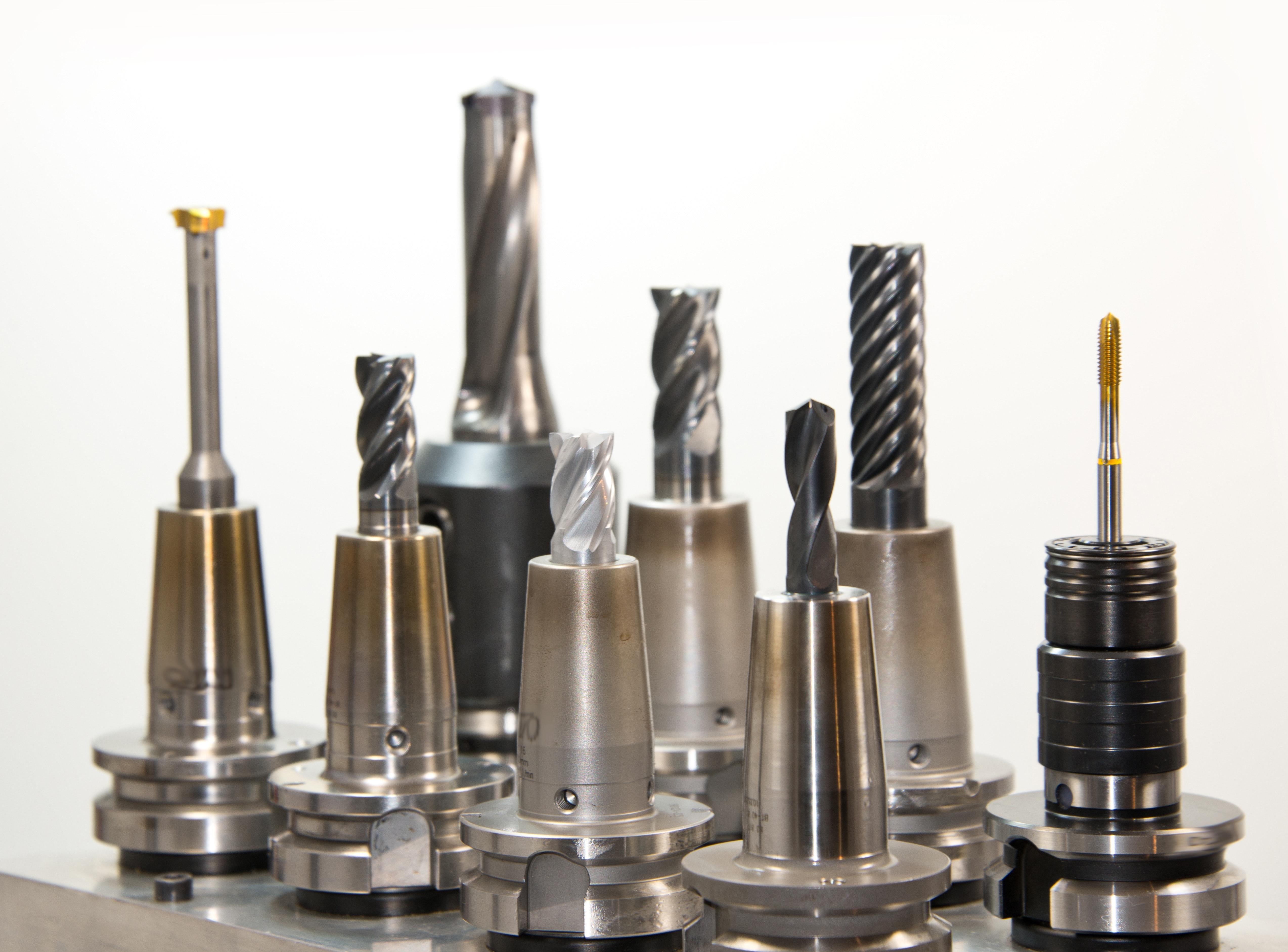 Silver Drill Bits Set, Tools, HQ Photo