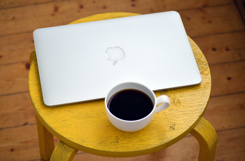 Silver Macbook Beside White Cup, Apple, Caffeine, Coffee, Computer, HQ Photo