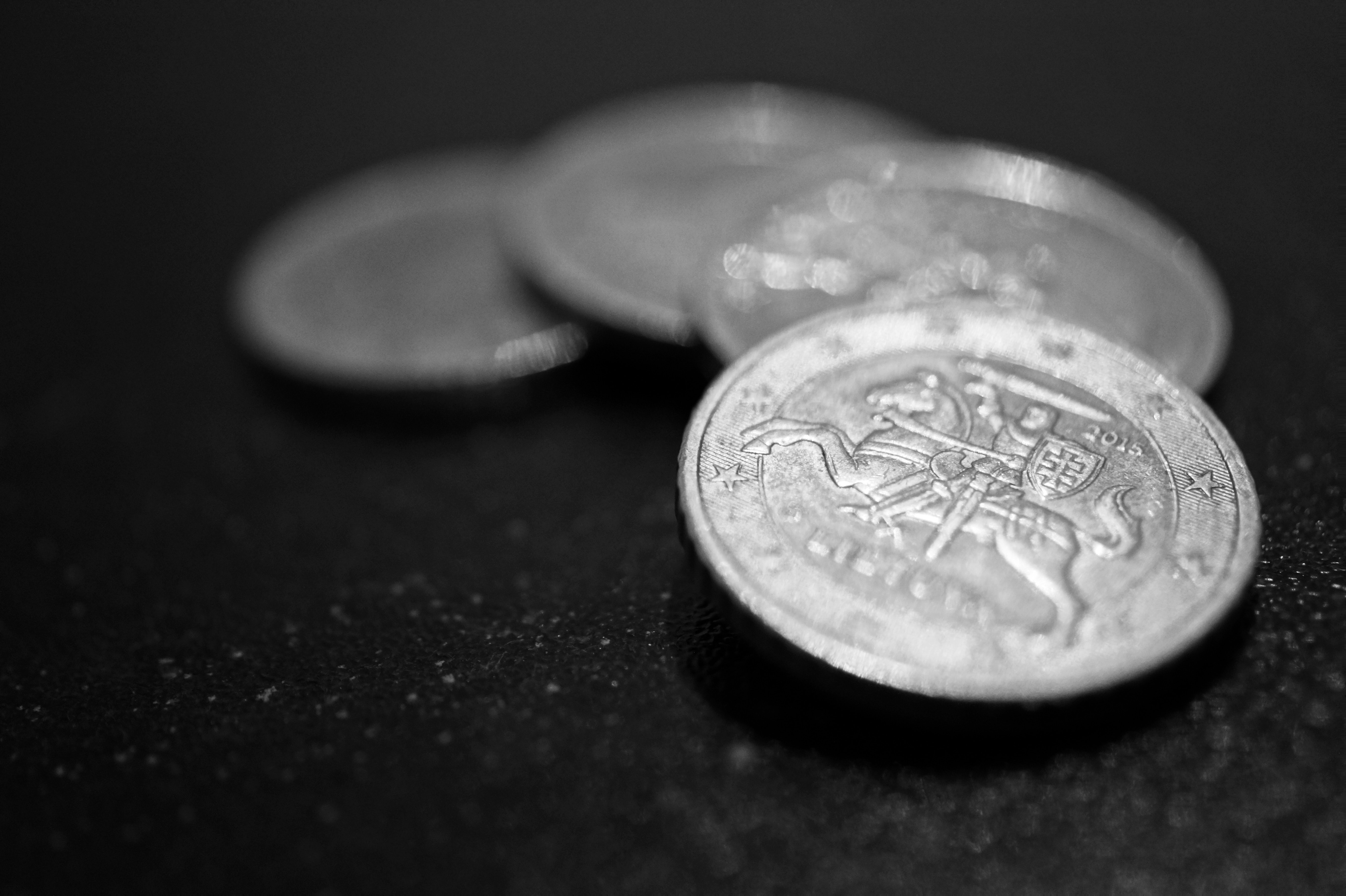 Silver Piled Coins · Free Stock Photo
