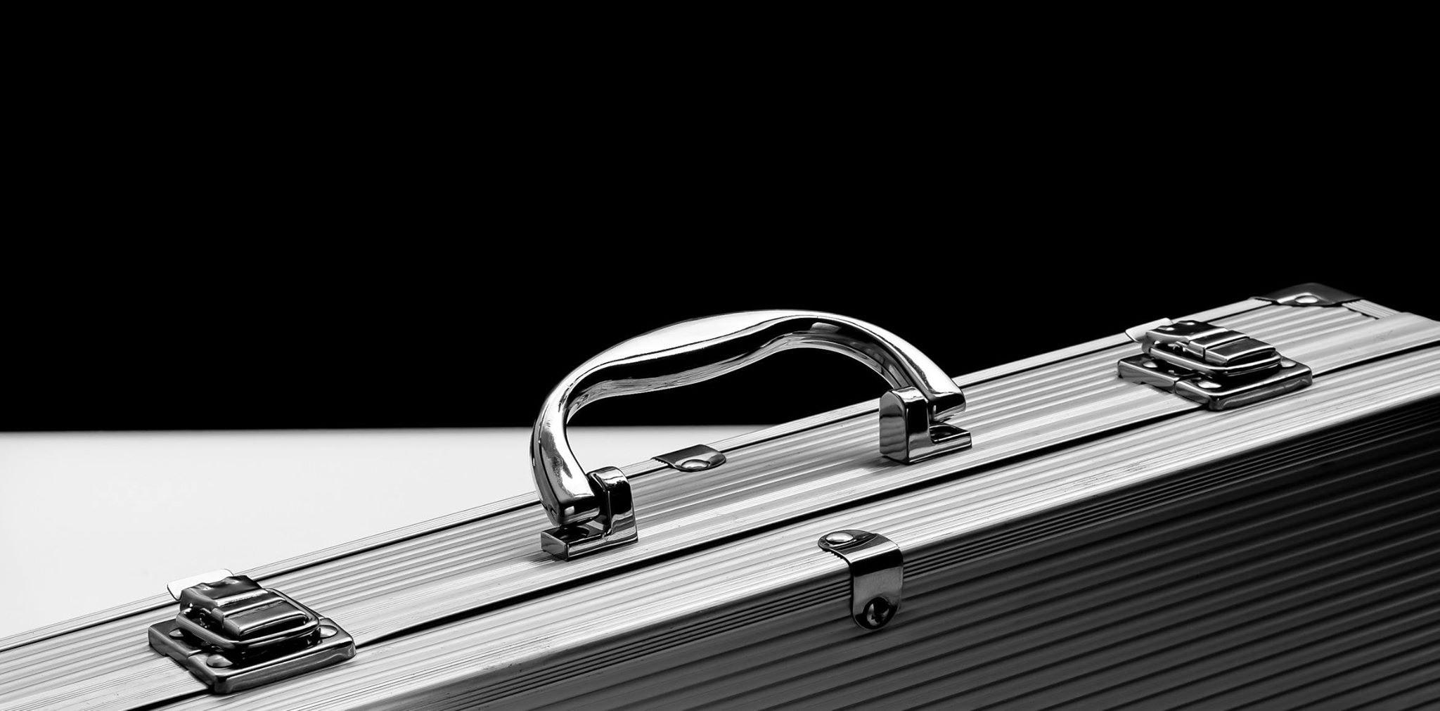 Silver Suit Case, Aluminum, Black-and-white, Briefcase, Business, HQ Photo