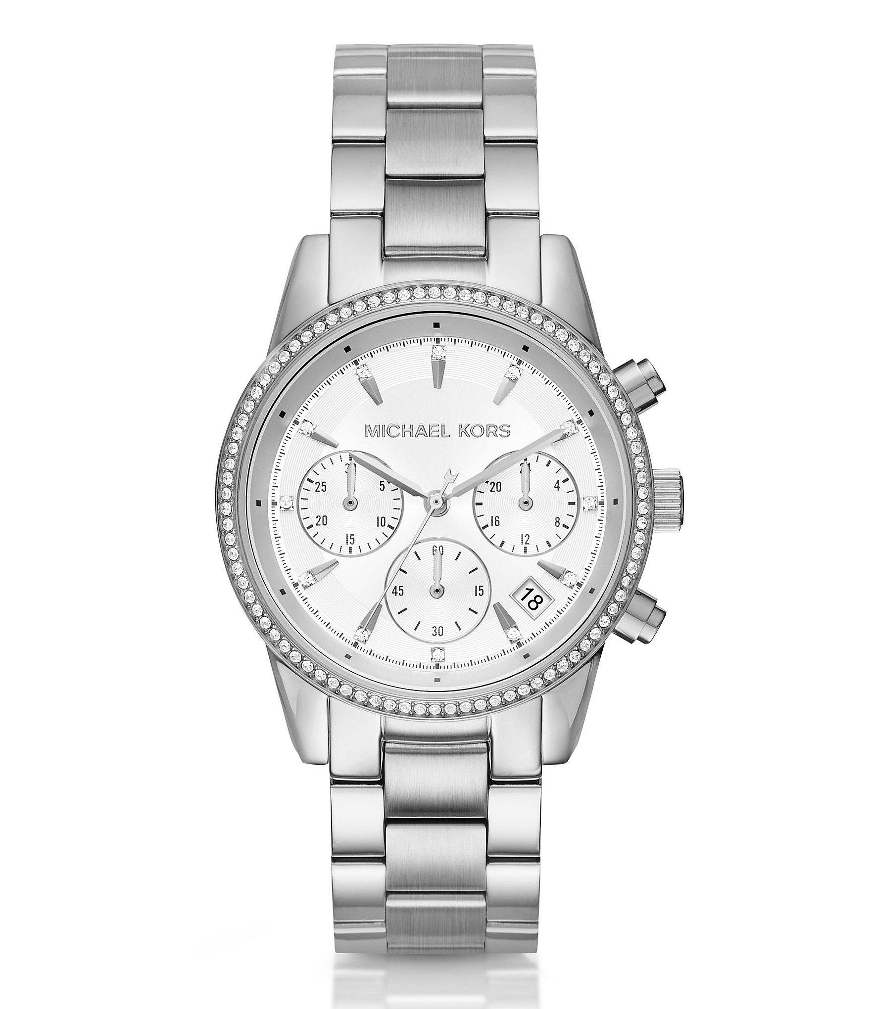Michael Kors Silver Watches for Men & Women | Dillards