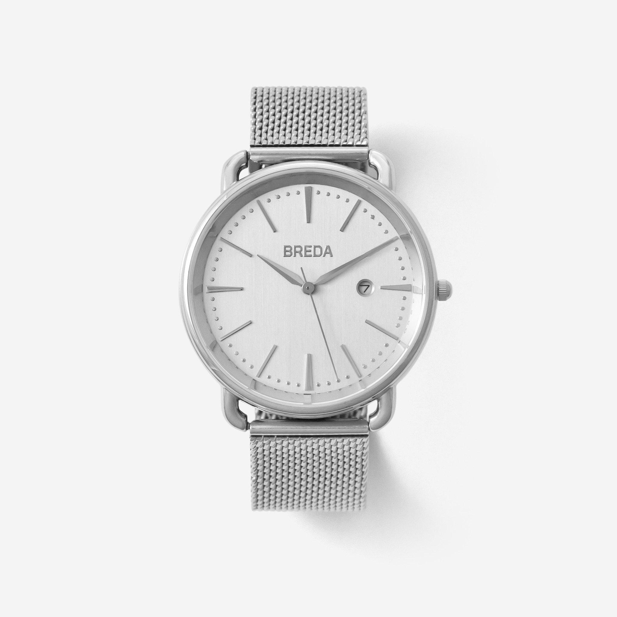 Linx | Stainless Steel Mesh Watch | Silver Watches | BREDA