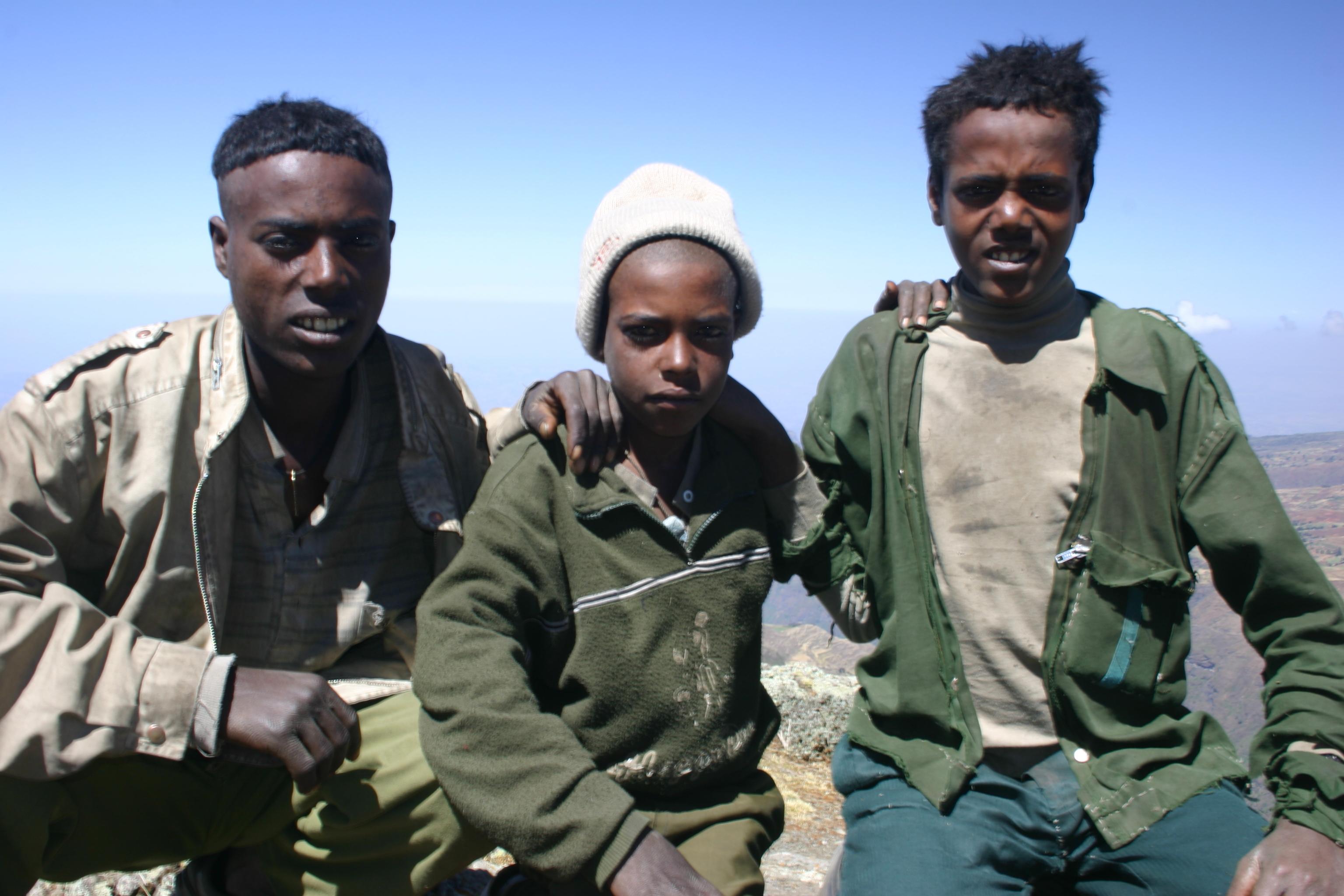 Simien mountains national park, ethiopian highlands photo