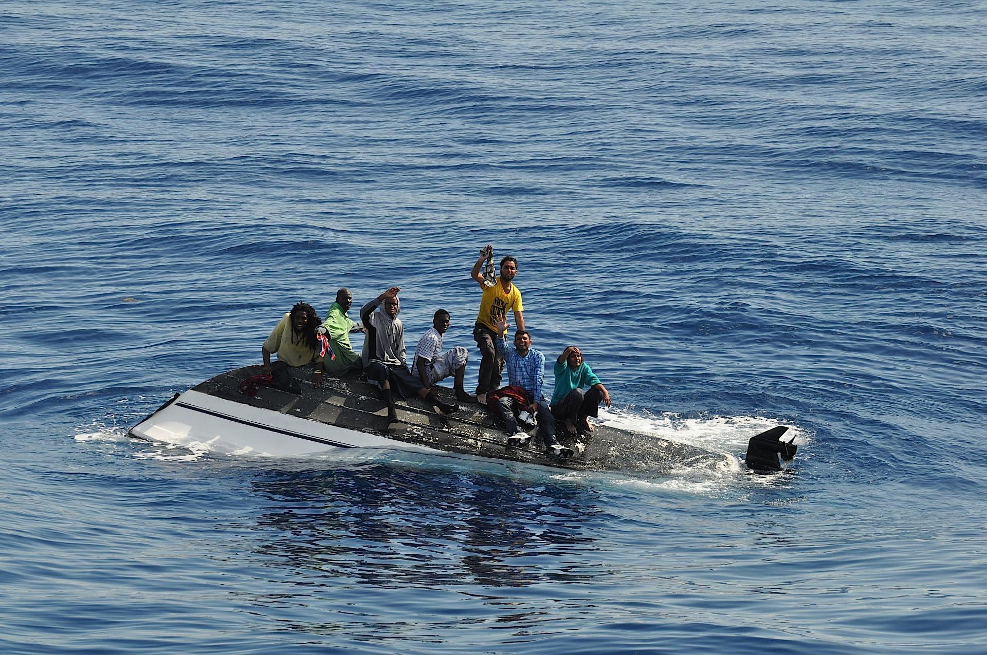 Sinking boat photo