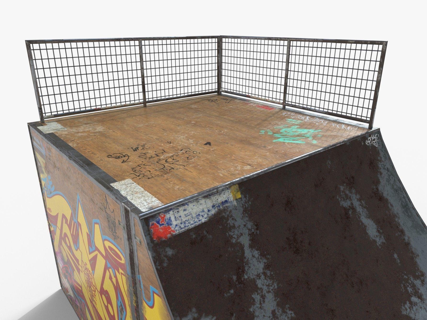Small Skate Ramp PBR 3D asset | CGTrader
