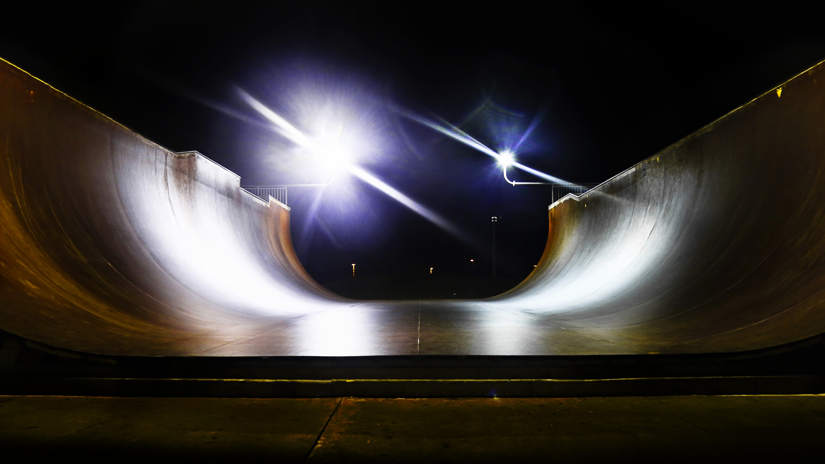 Skate Ramp, Skate, Tunnel, Ramp, Lights, HQ Photo