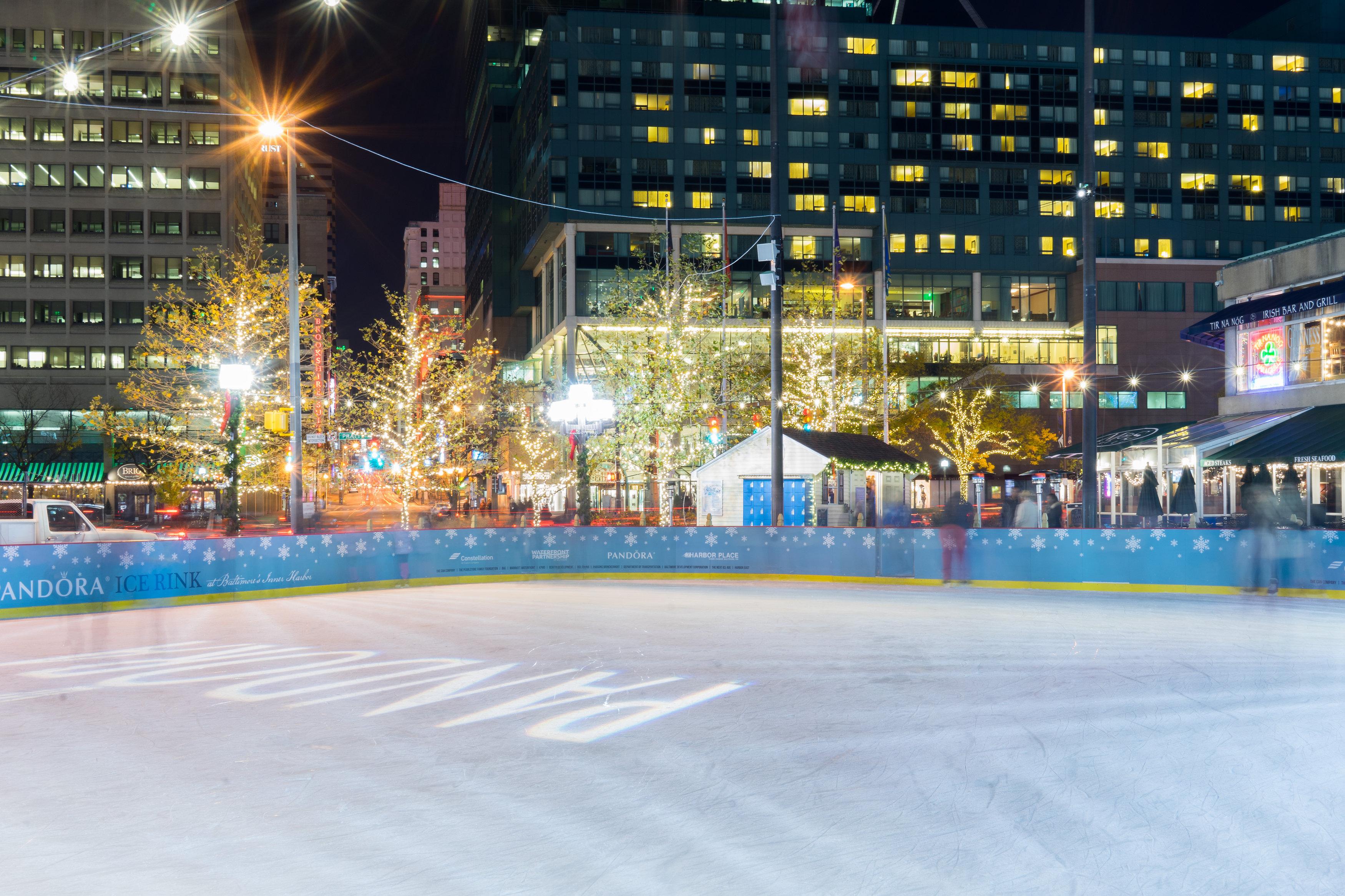 PANDORA Ice Rink | Baltimore Waterfront