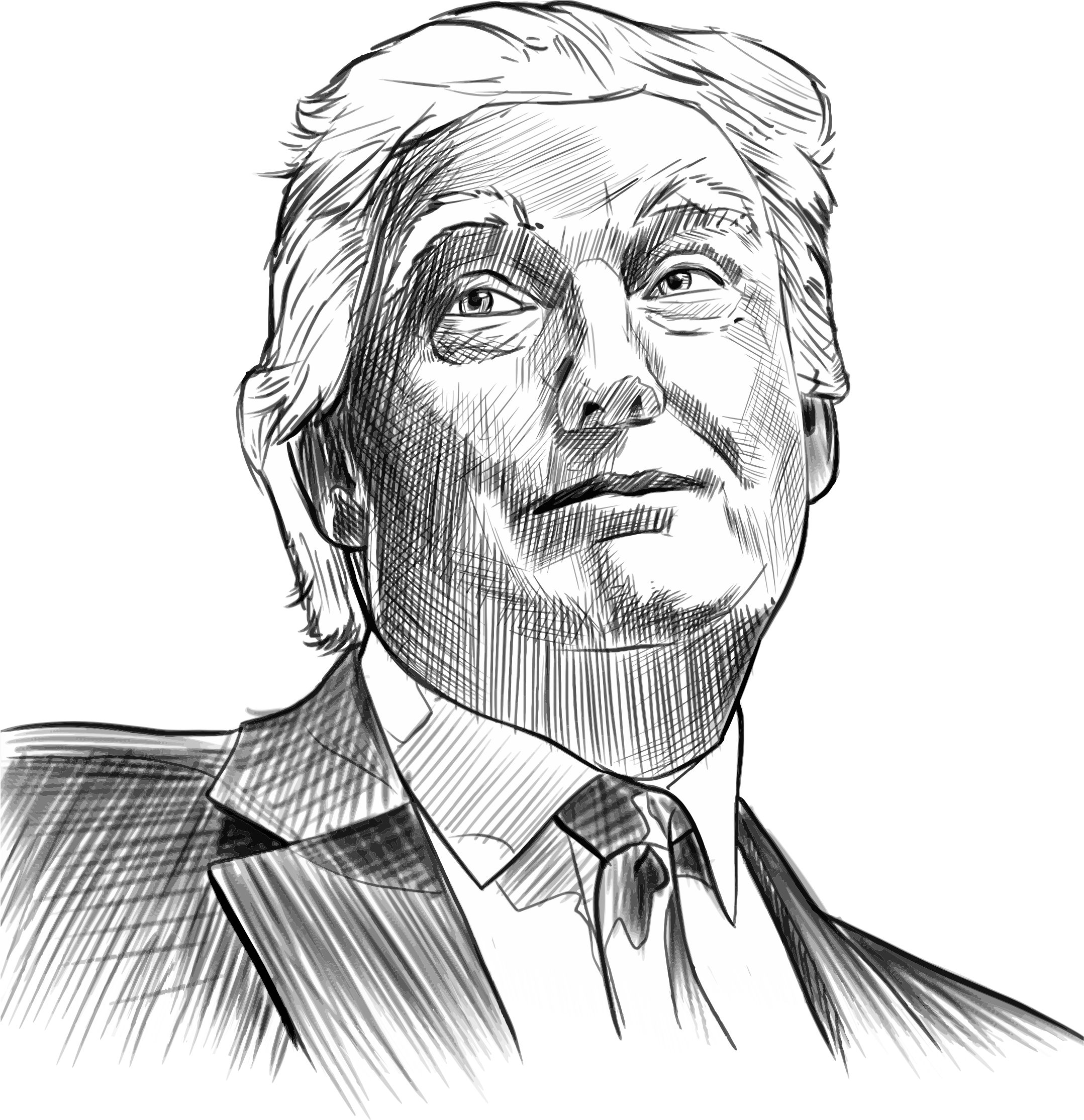 Donald Trump Sketch Icons PNG - Free PNG and Icons Downloads