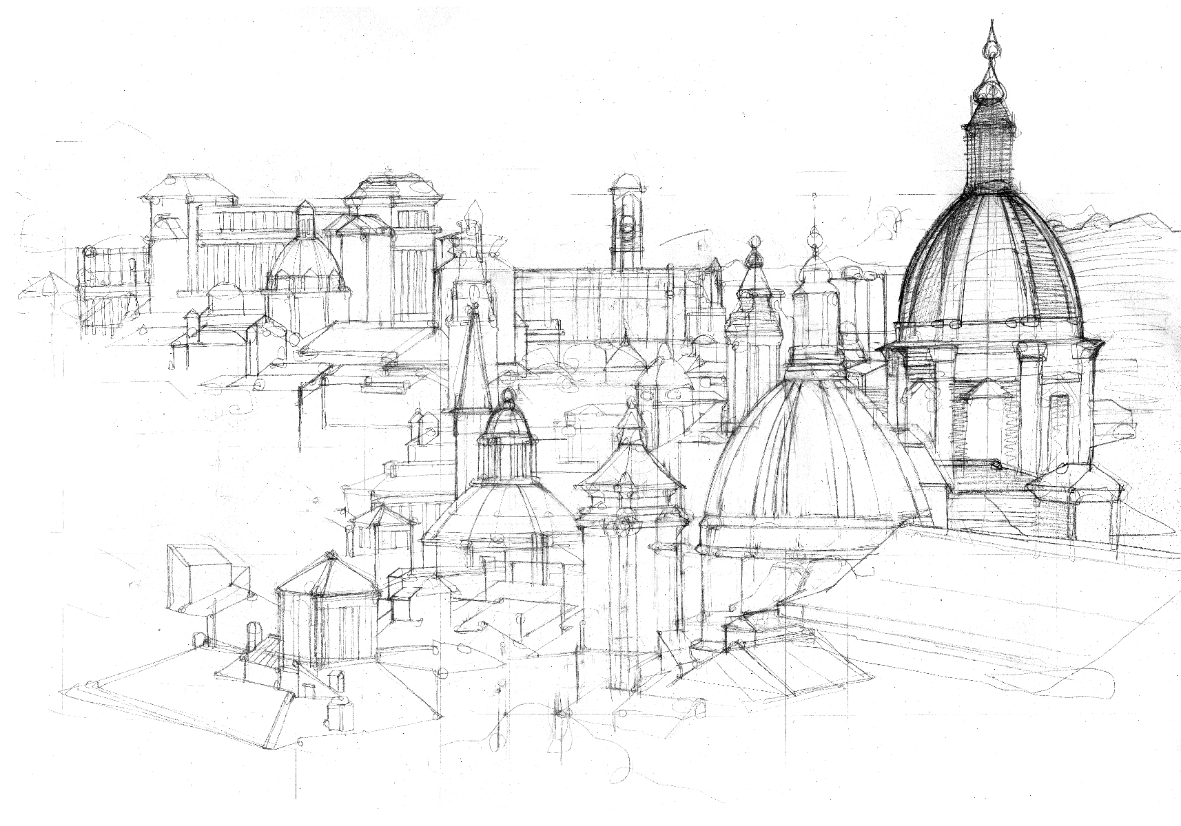 Sketch of Rome – Illustrated Maps