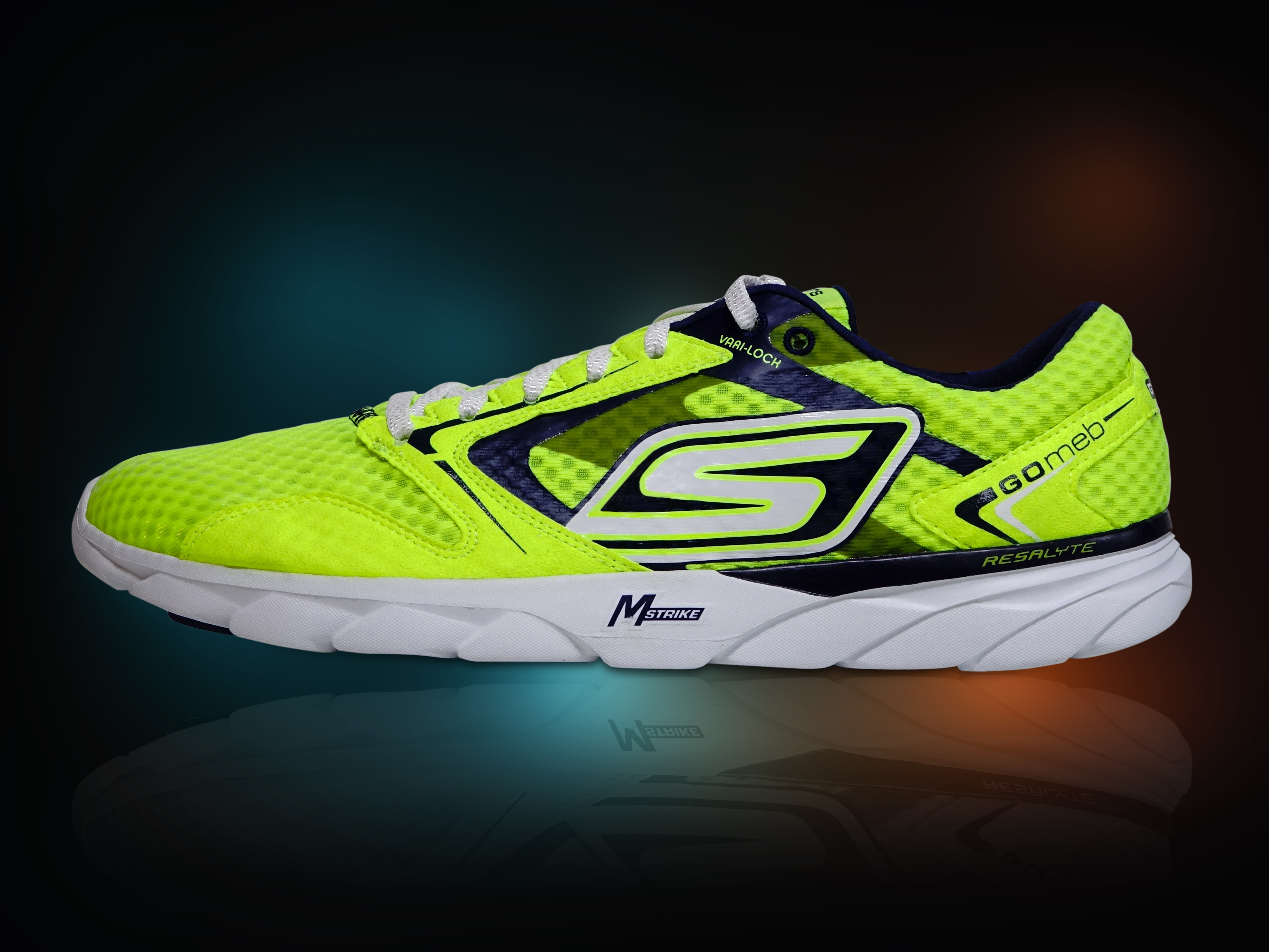 Sketchers Green and Black Shoe, Bright, Luminous, Rubber shoes, Running shoe, HQ Photo