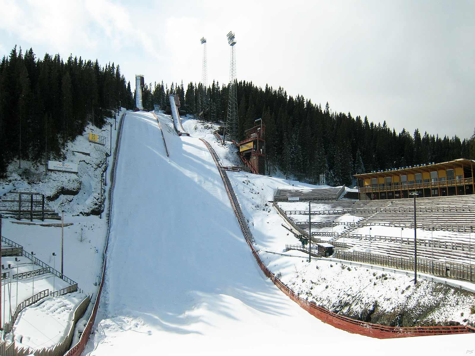 Image: The ski jumping hill Granåsen, Trondheim, Norway