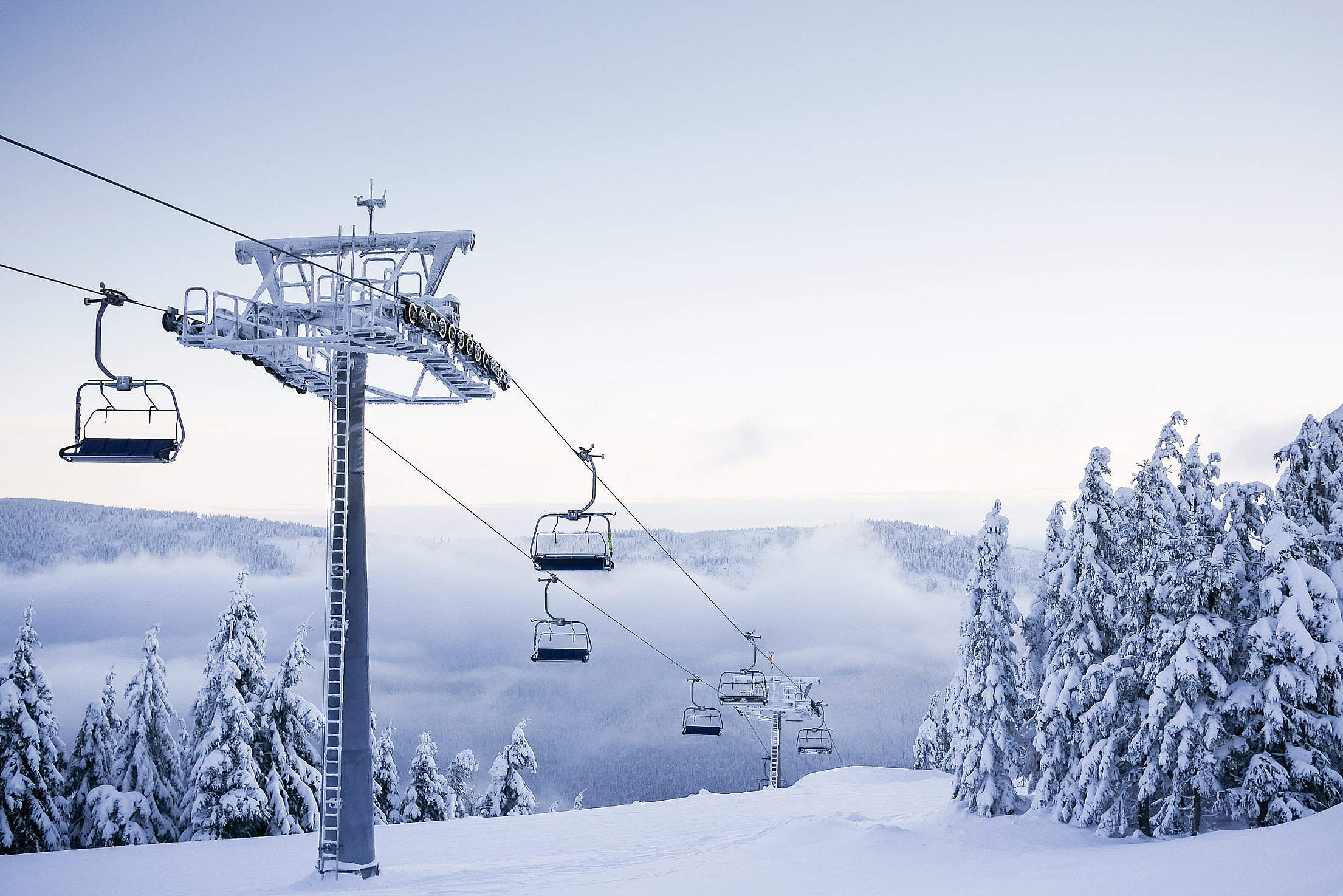 Empty Chair Ski Lift on Bright Winter Day Free Stock Photo Download ...