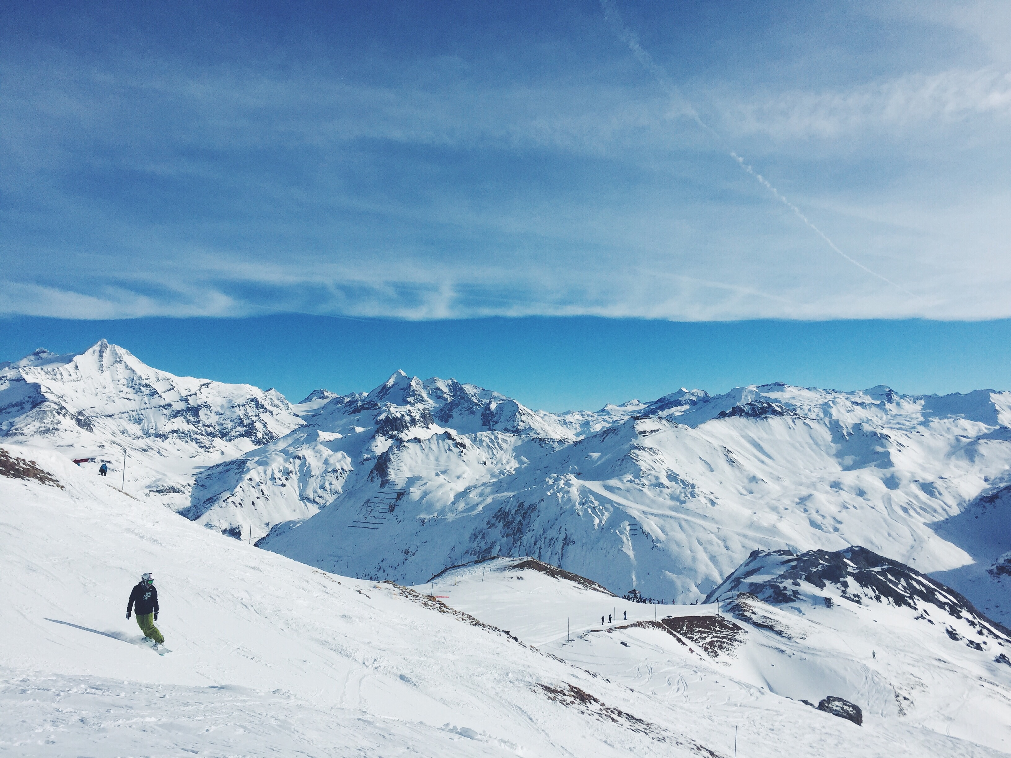 Skiing on the snow, Altitude, Cold, High, Ice, HQ Photo