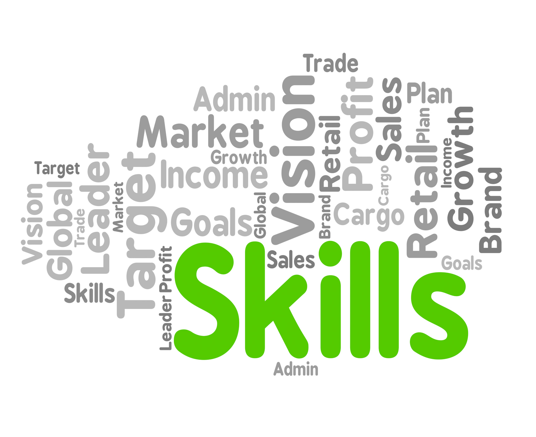 Skills word represents wordclouds expertise and abilities photo