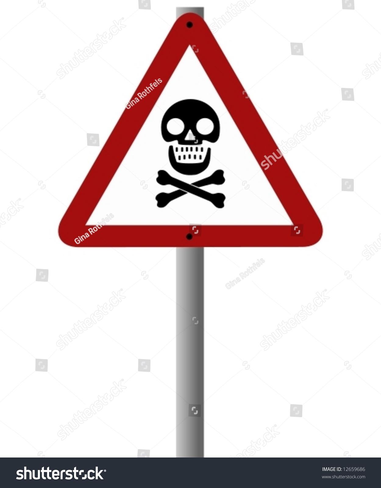Skull roadsign photo