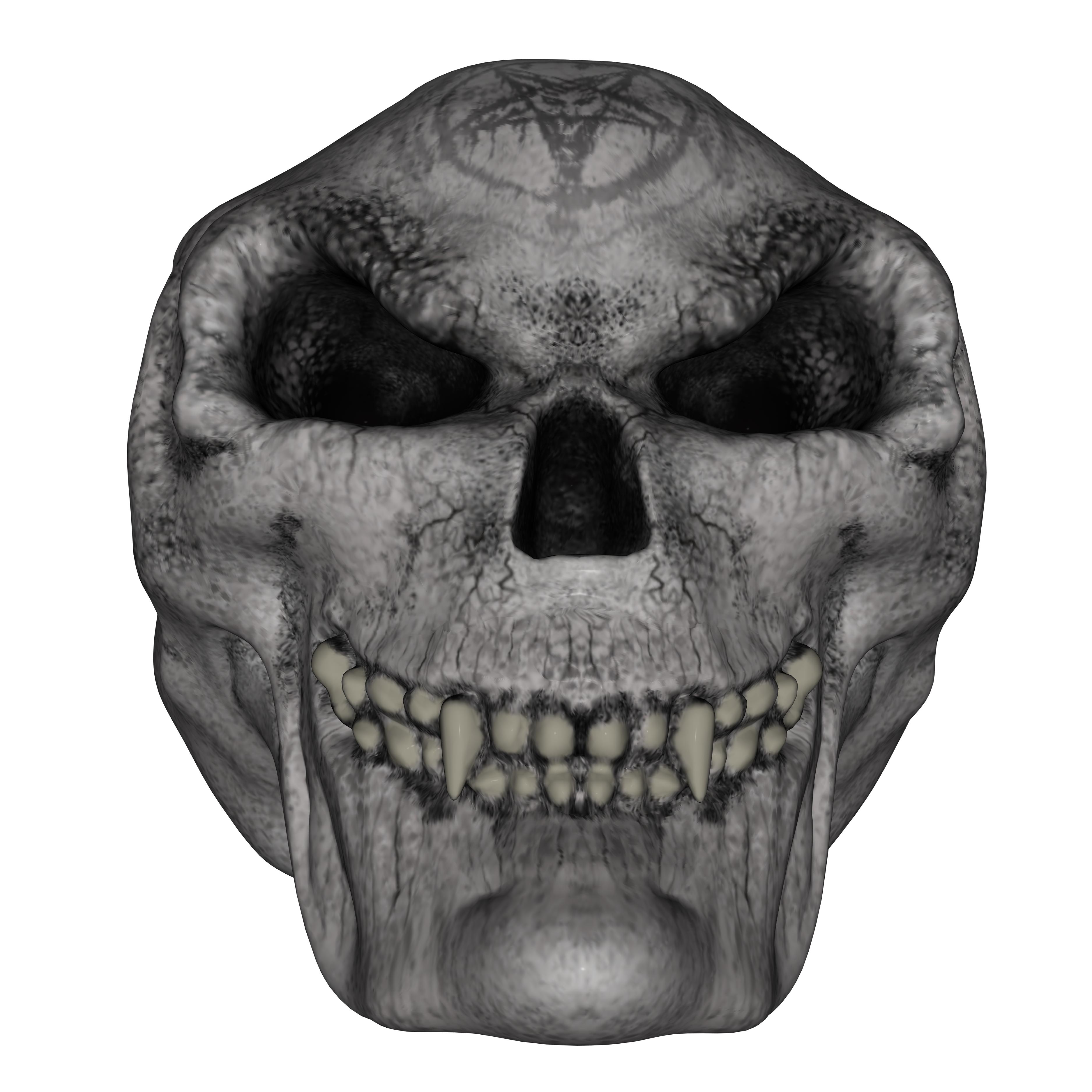 Skull, 3d, Bone, Devil, Evil, HQ Photo
