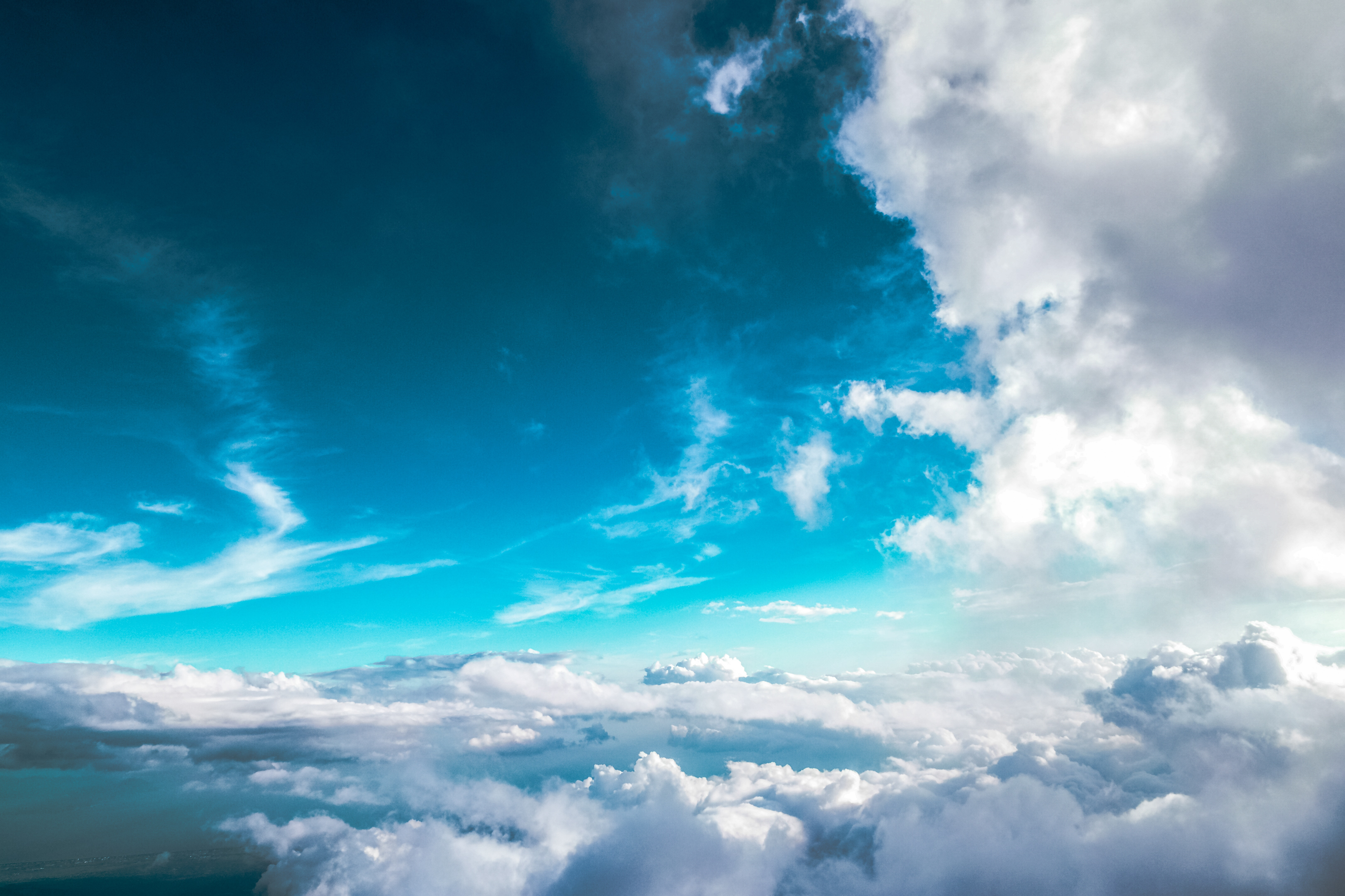 Free stock photo of blue sky, clouds, flying