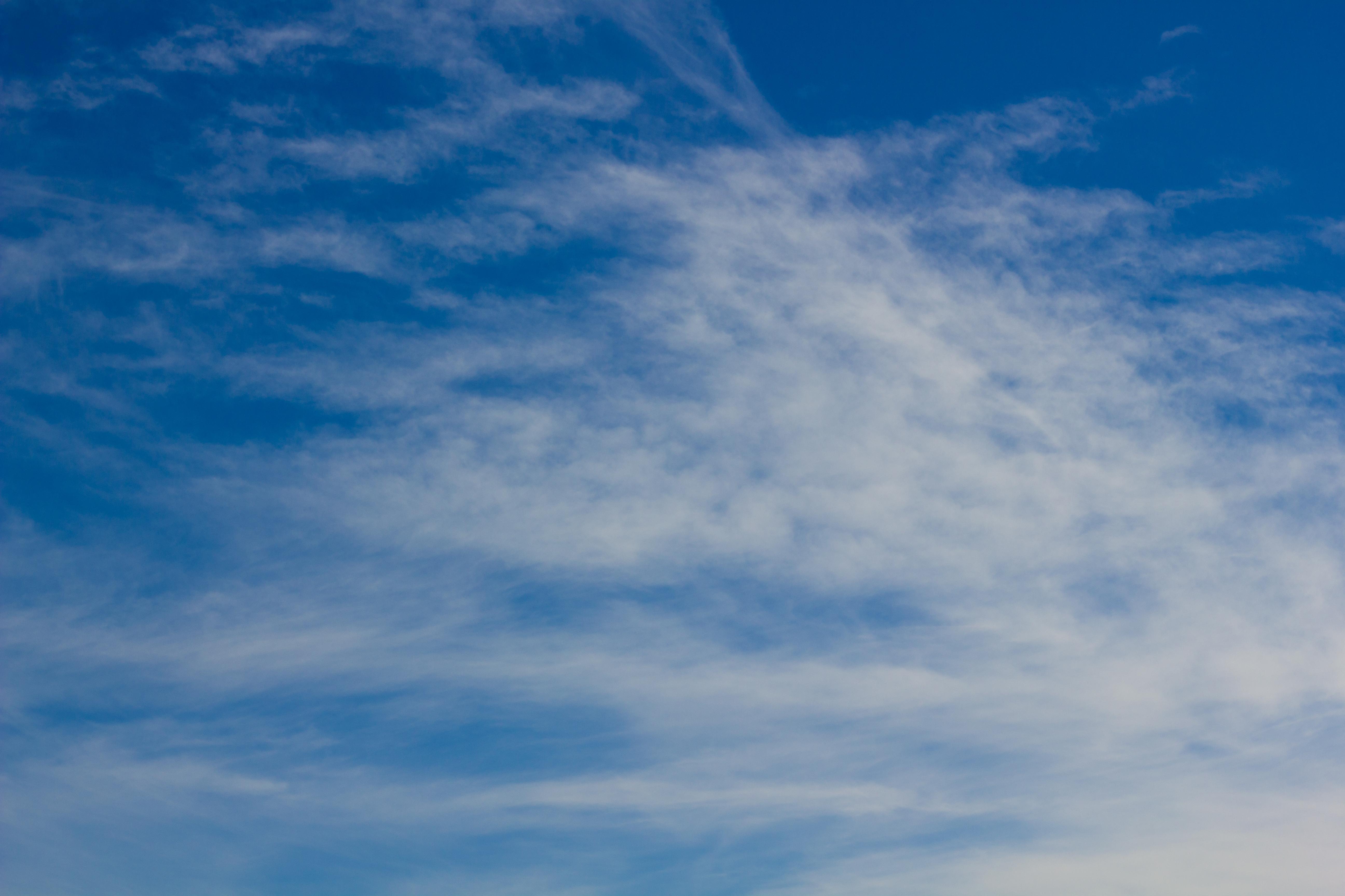 Sky, Blue, Clouds, White, HQ Photo