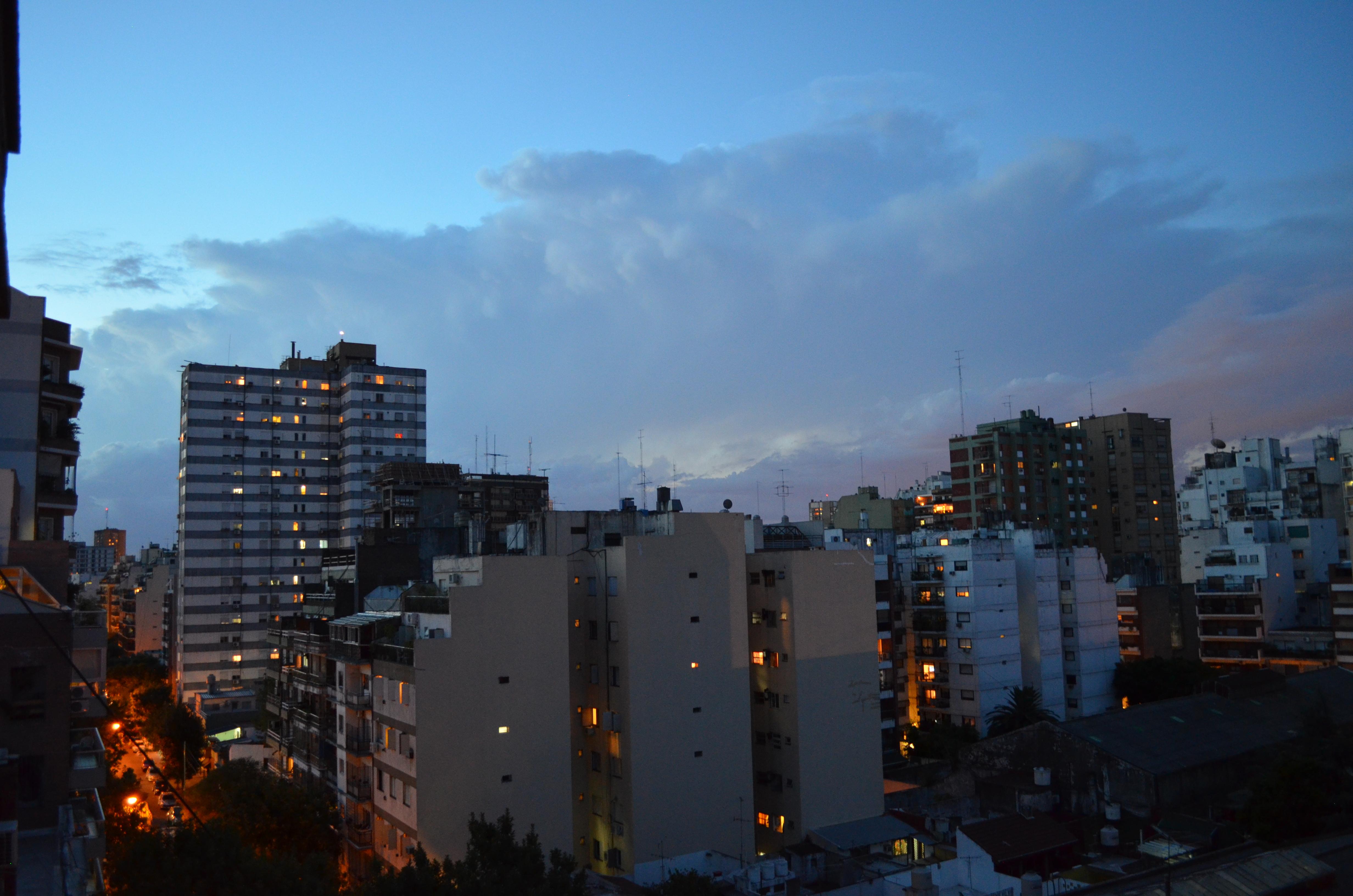 Sky and Buildings, Sky, Evening, Dusk, Buildings, HQ Photo