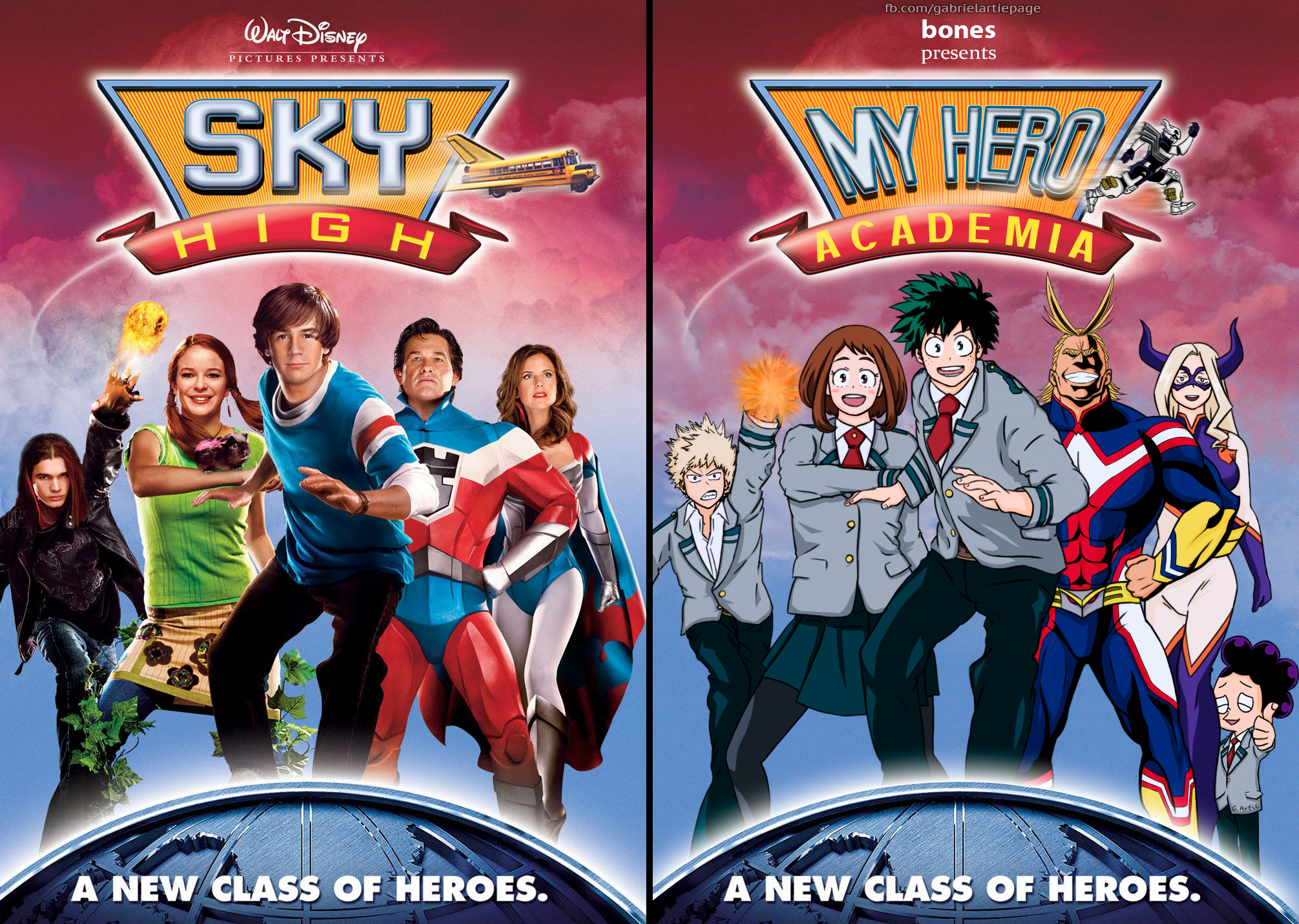 My Hero Academia Cover (Parody of the Sky High DVD Cover) | My Hero ...