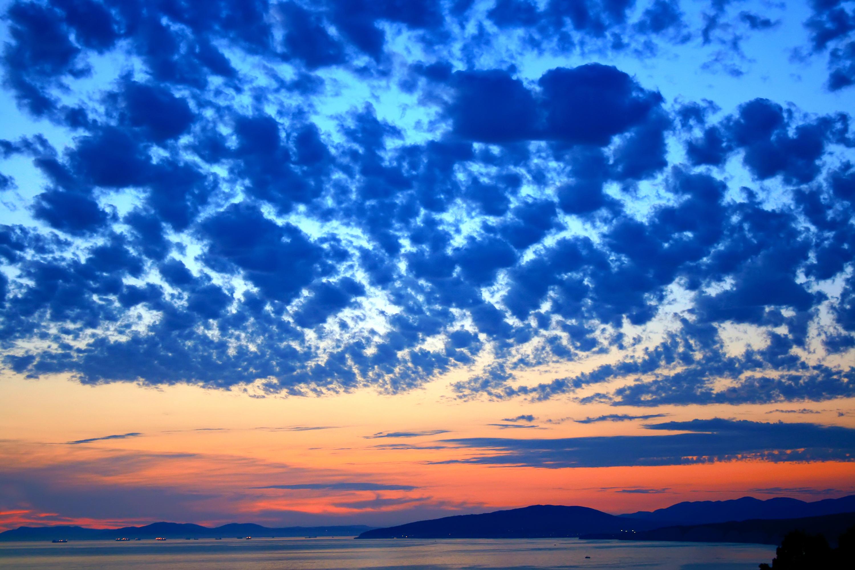 Sky over sea photo