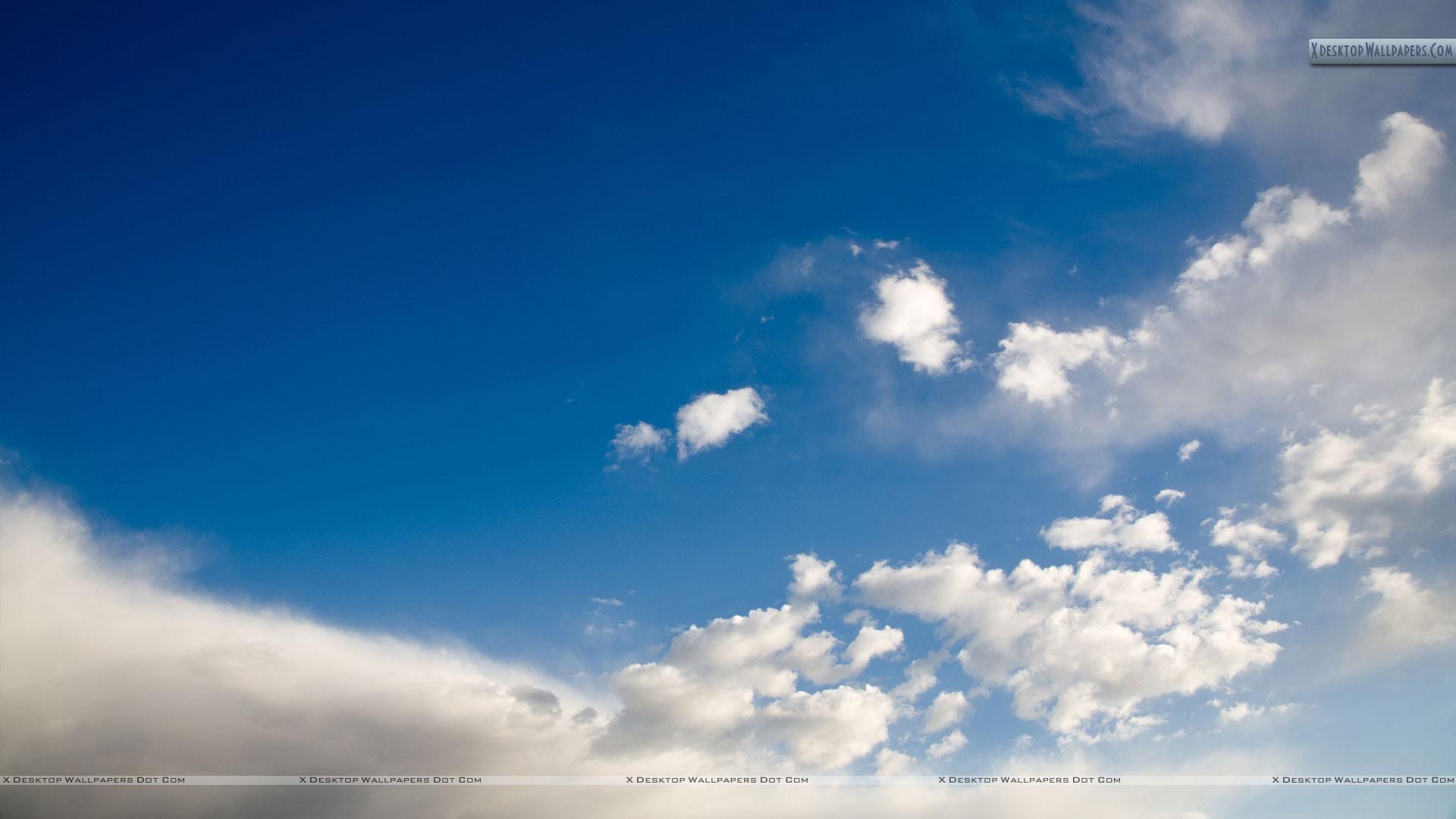 Sky Scene And White Cloud Wallpaper