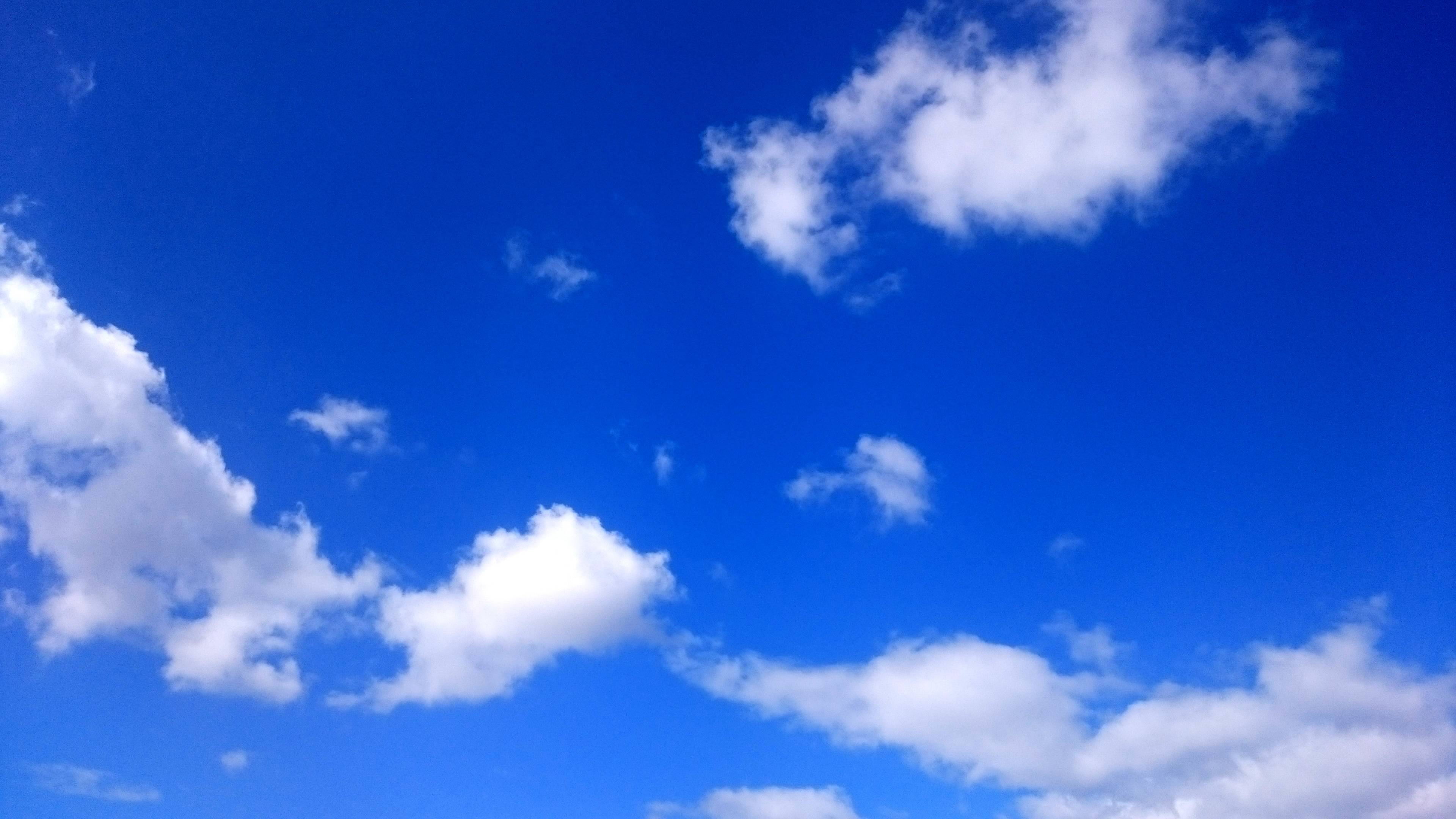 Beautiful blue sky with clouds | Born Brilliant image stock