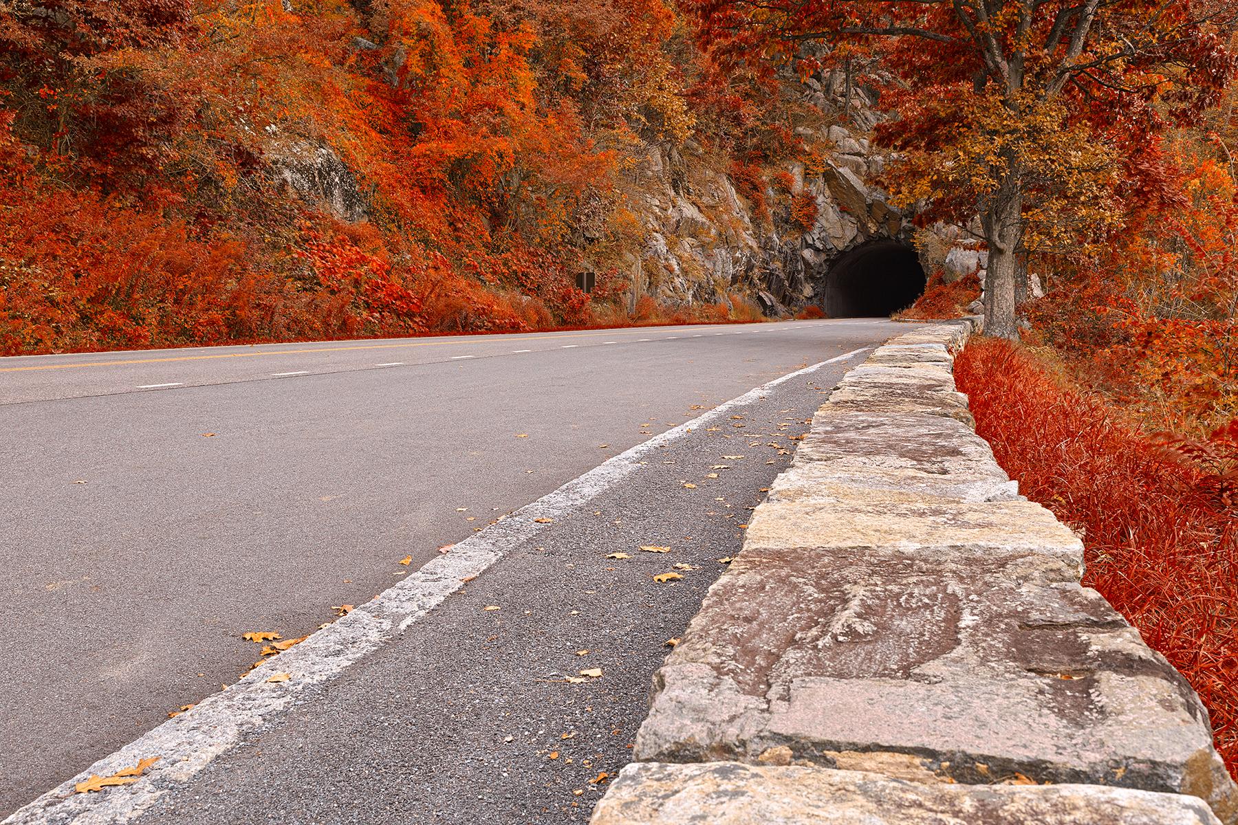 Skyline tunnel drive - ruby autumn hdr photo