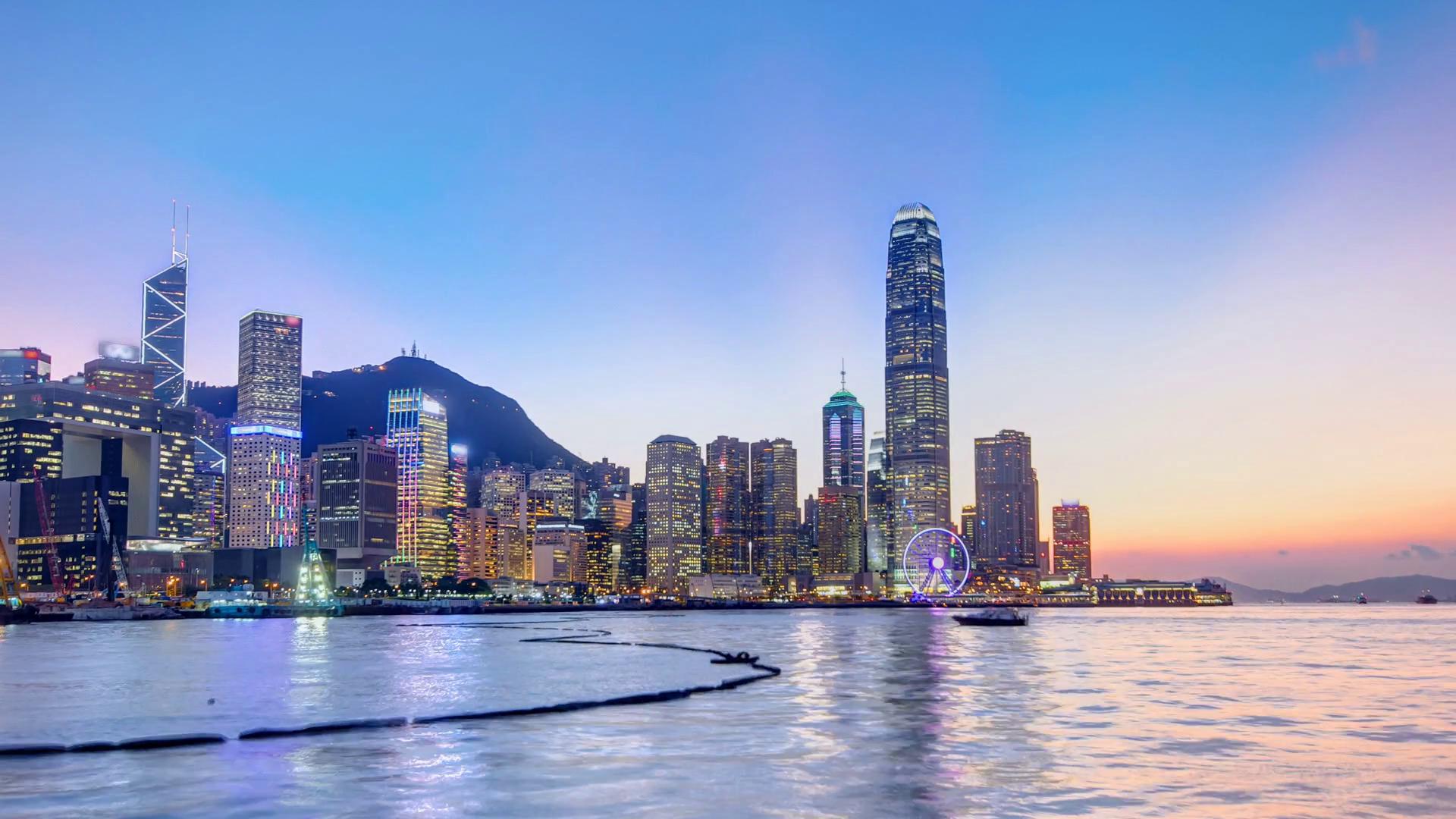 Hong Kong, China skyline panorama of Hong Kong with modern ...