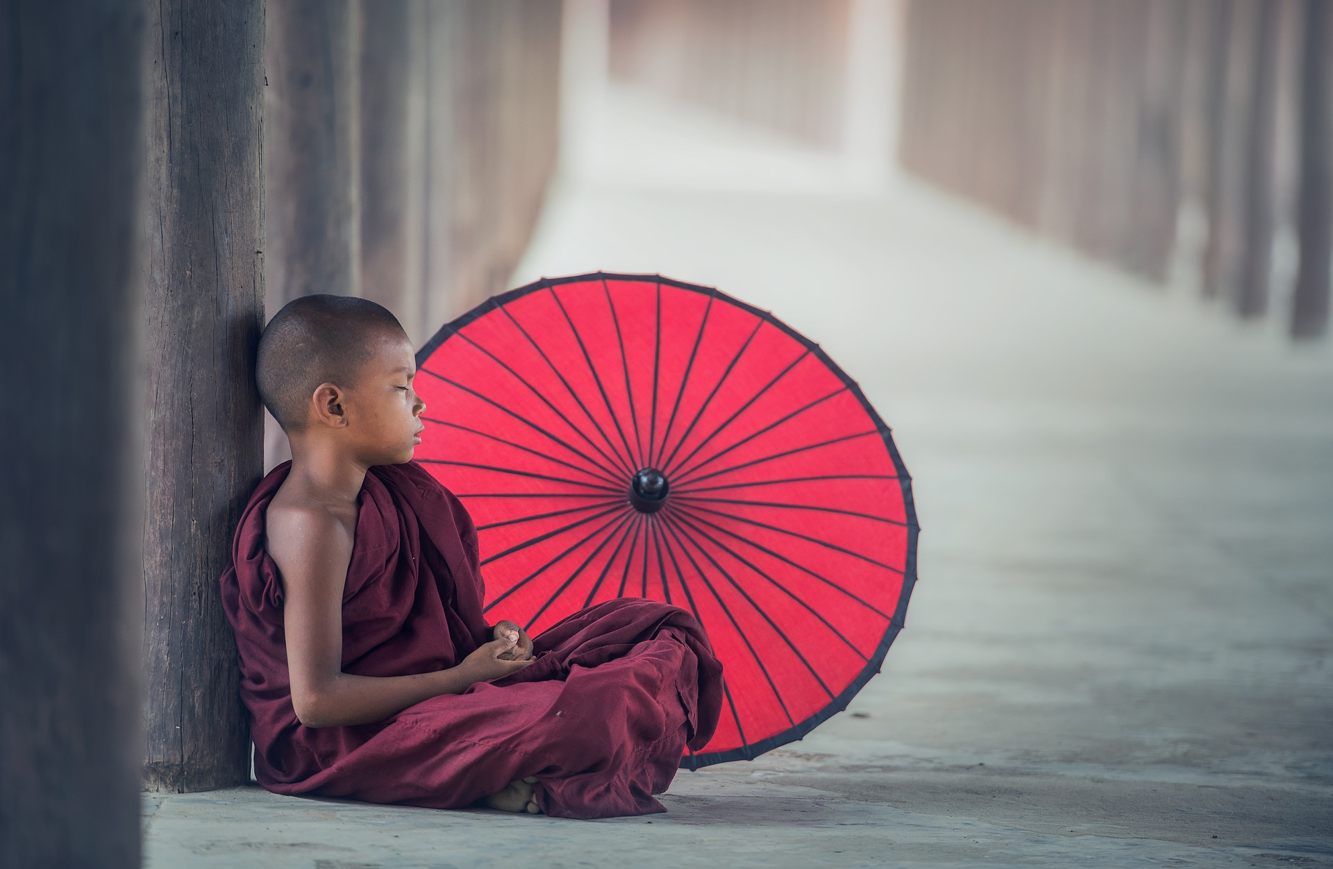 Sleeping Kid, Activity, Child, Human, Monk, HQ Photo