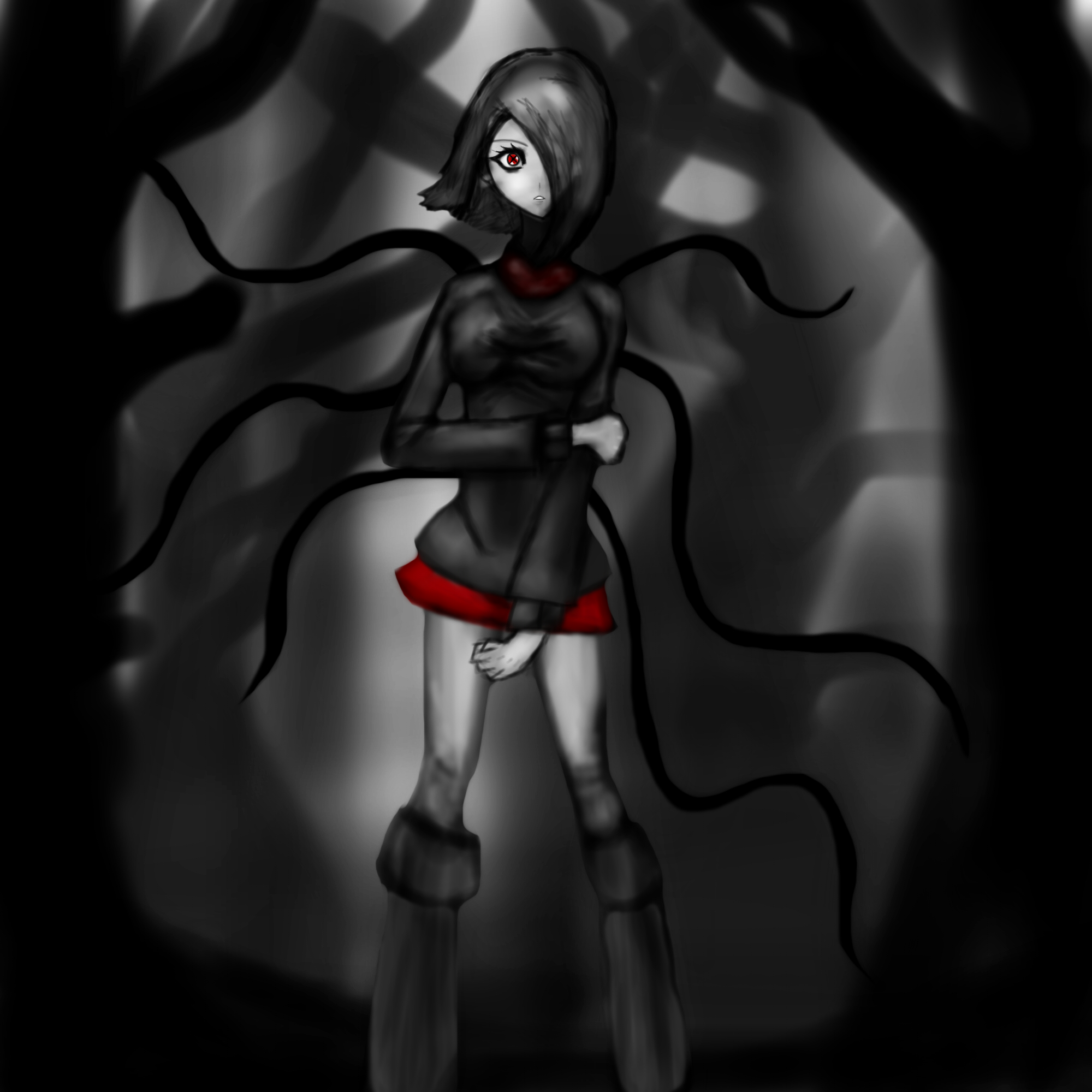 Slender girl by bologen111 on Newgrounds