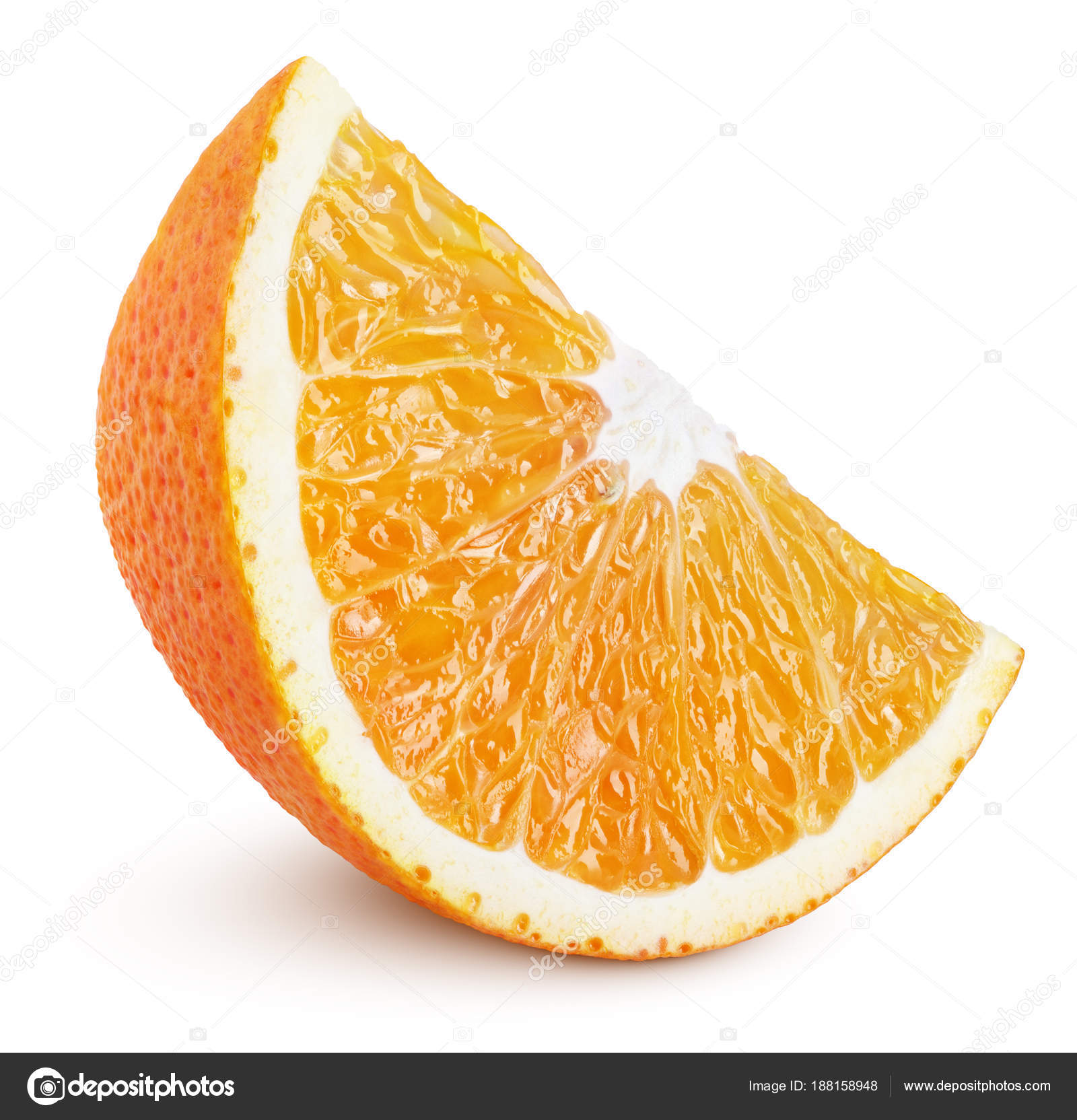 Slice of orange citrus fruit isolated on white — Stock Photo ...