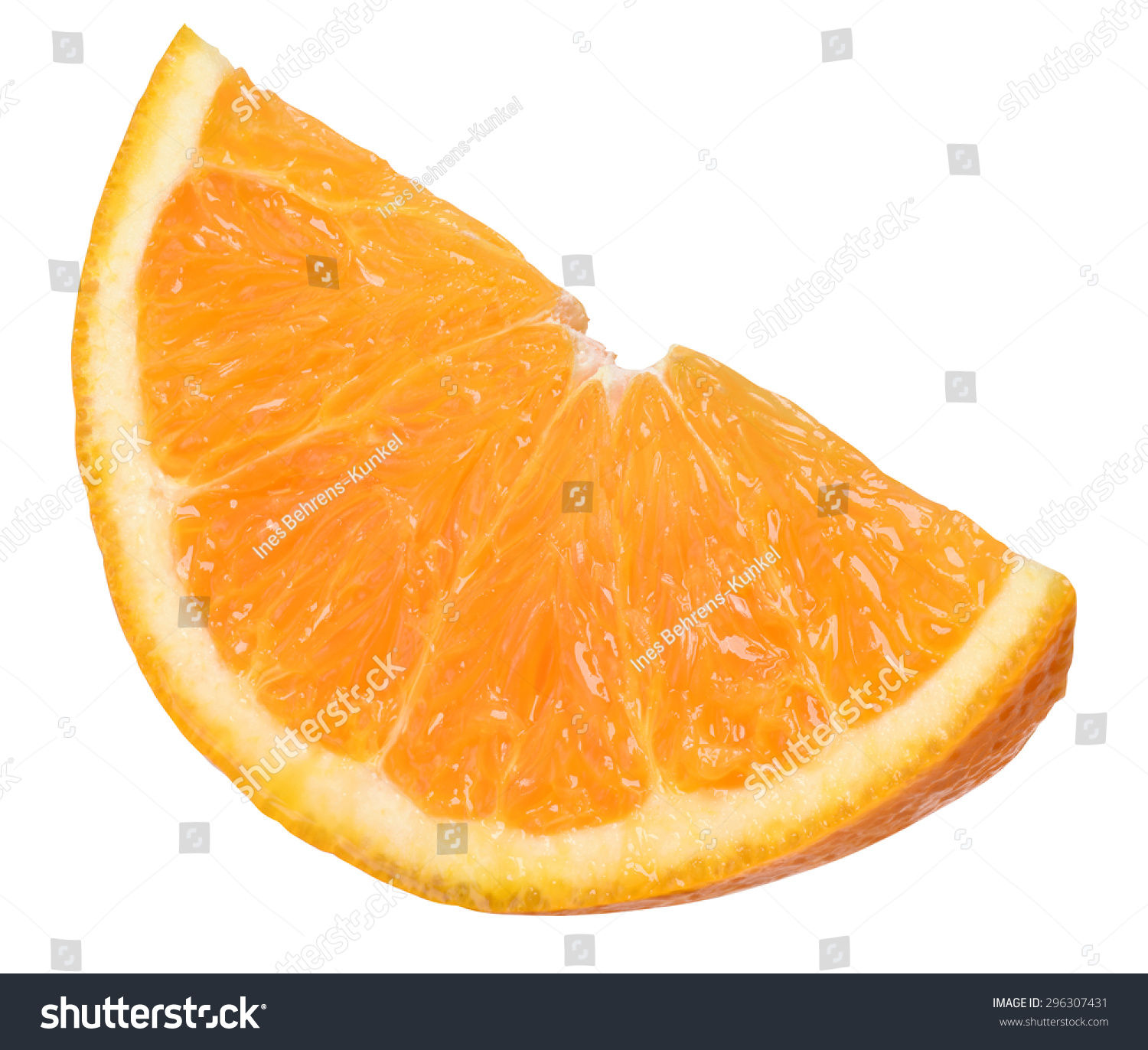 Juicy Slice Orange Stock Photo (Royalty Free) 296307431 - Shutterstock