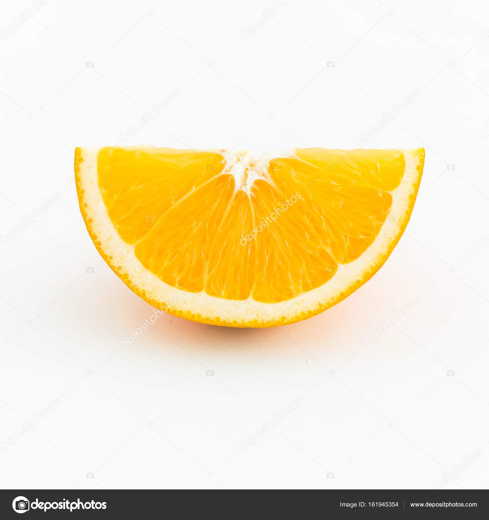 Slice of orange isolated — Stock Photo © Keola #161945354