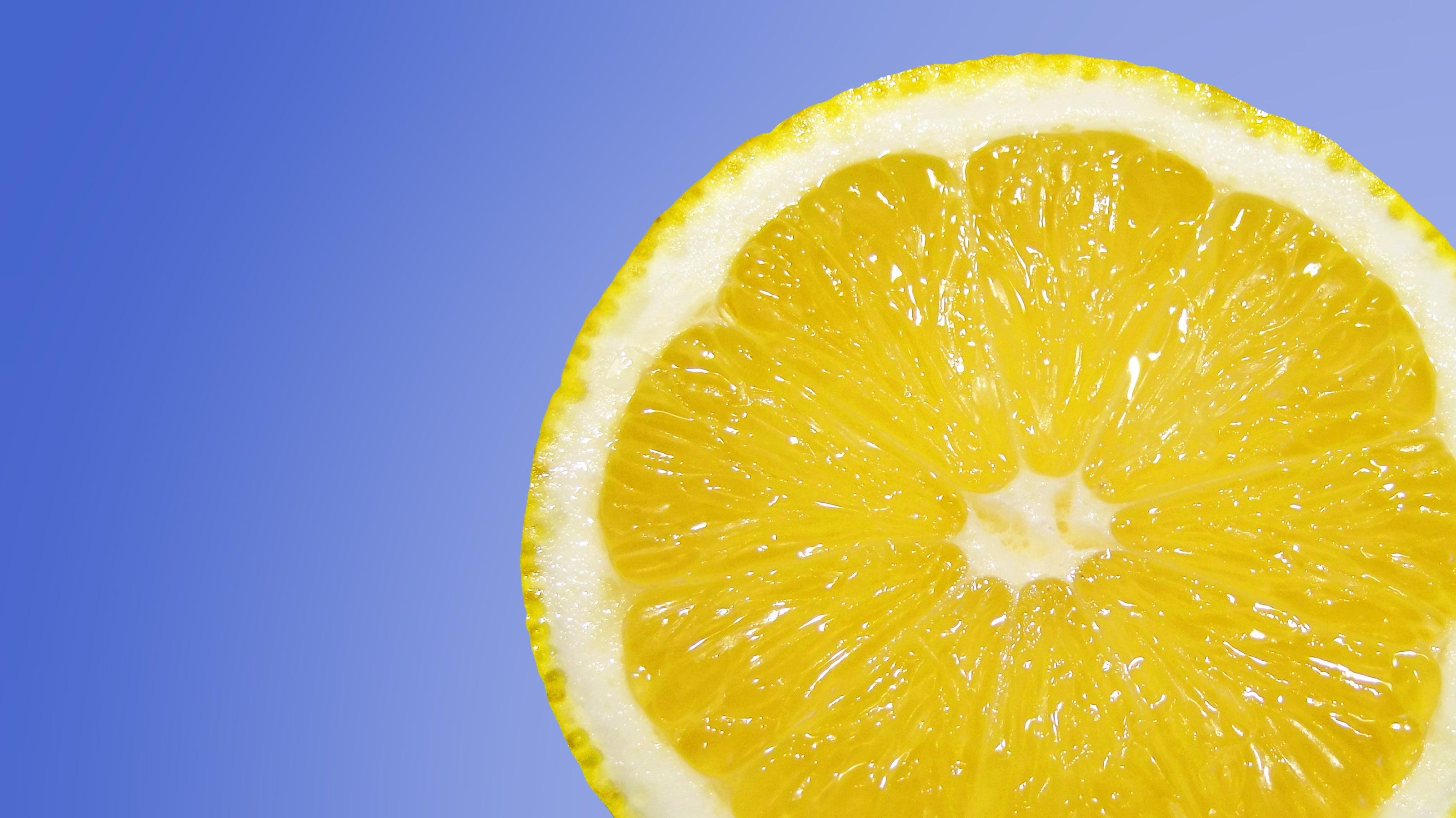 Sliced lemon photo