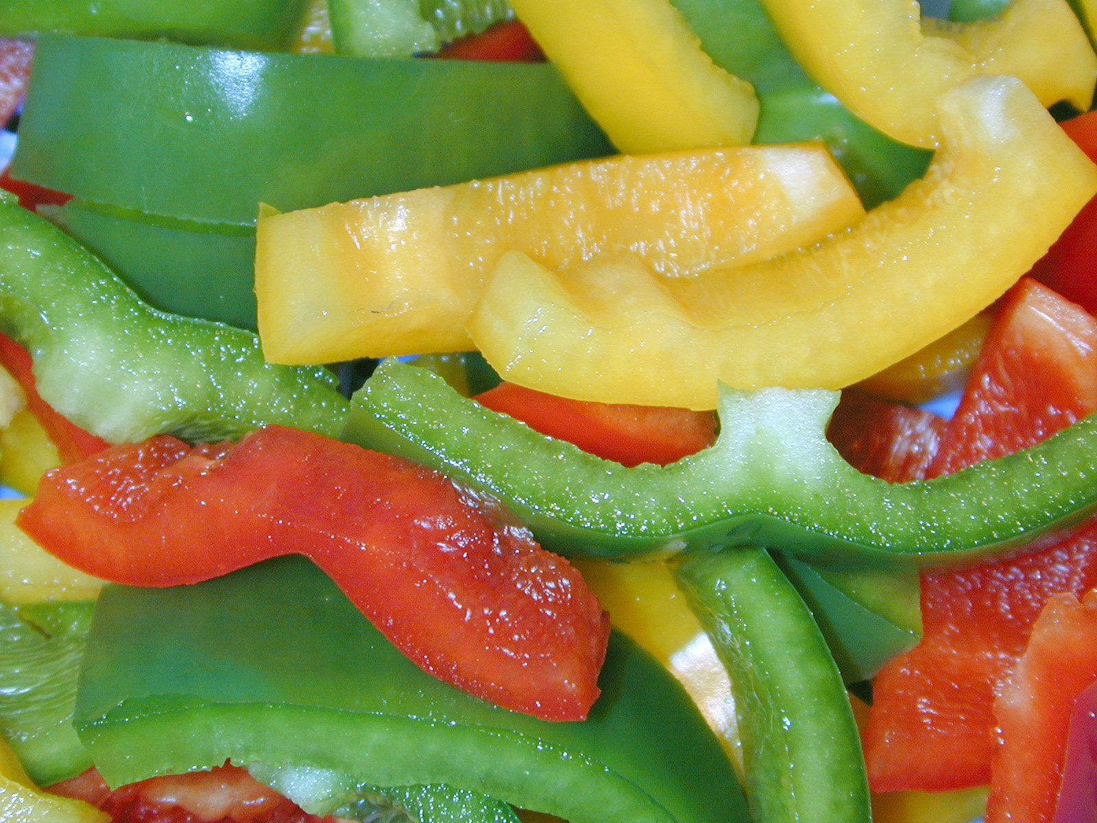 Sliced peppers photo